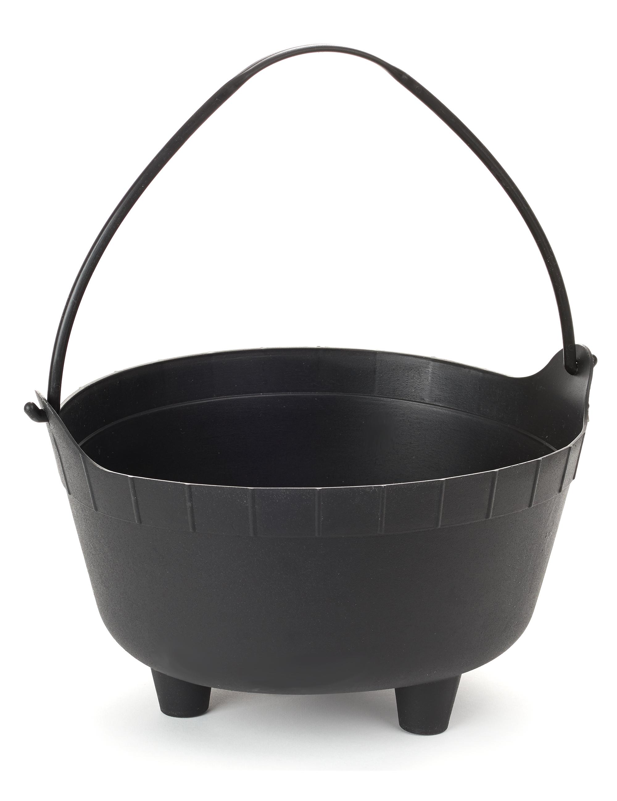 Grosser hexenkessel halloween deko schwarz 35x20cm for Deko schwarz