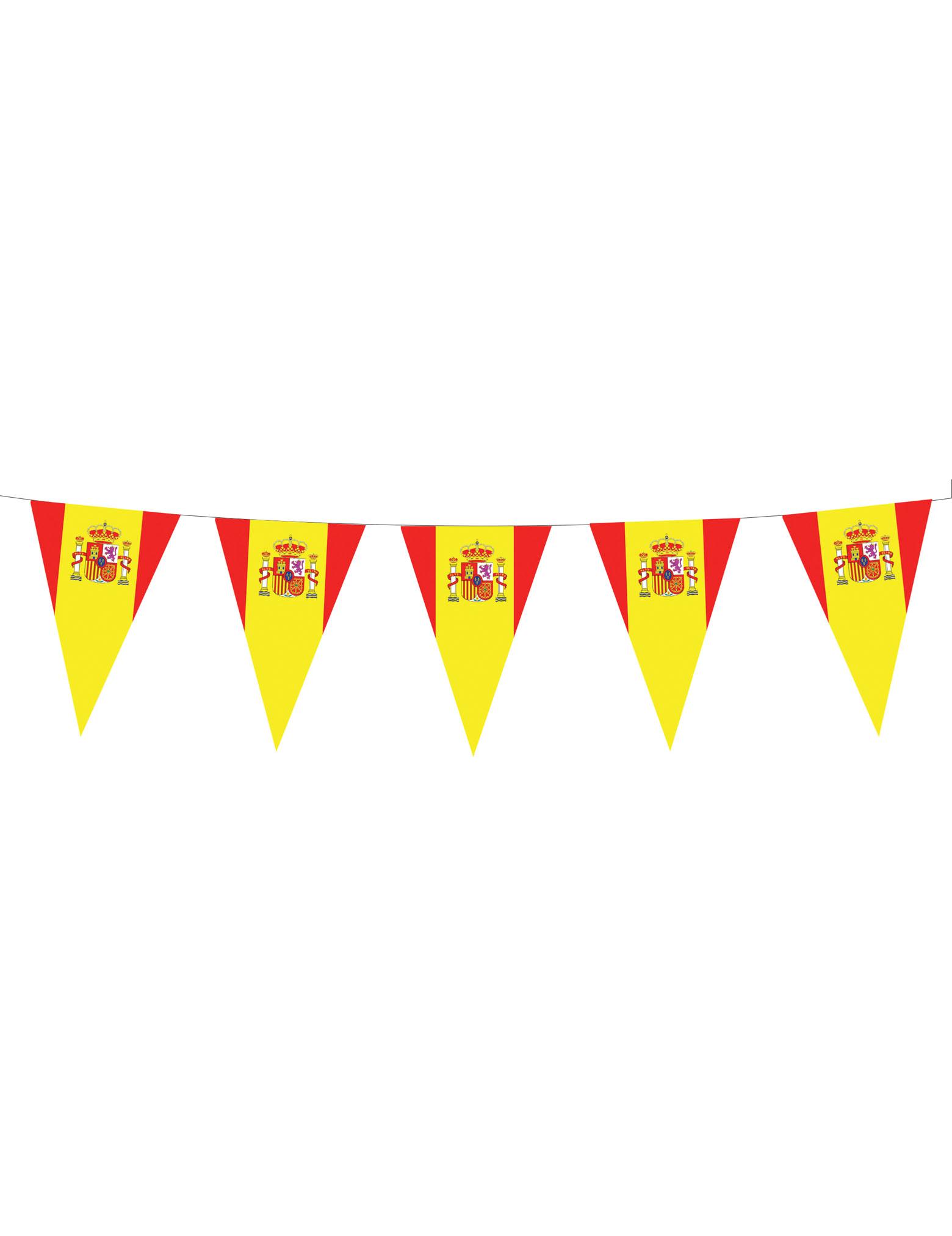 Spanien Wimpelgirlande Fanartikel Rot Gelb 5m G Nstige