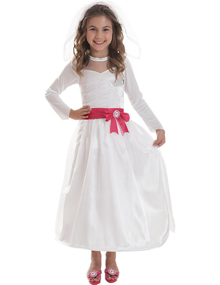 Barbie als Braut Kinderkostüm für Mädchen weiss