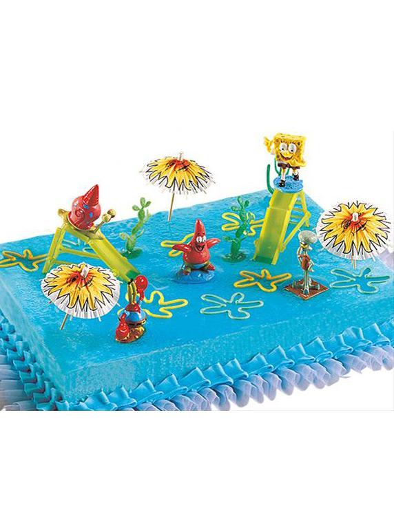 kuchendekoration spongebob schwammkopf bunt g nstige. Black Bedroom Furniture Sets. Home Design Ideas
