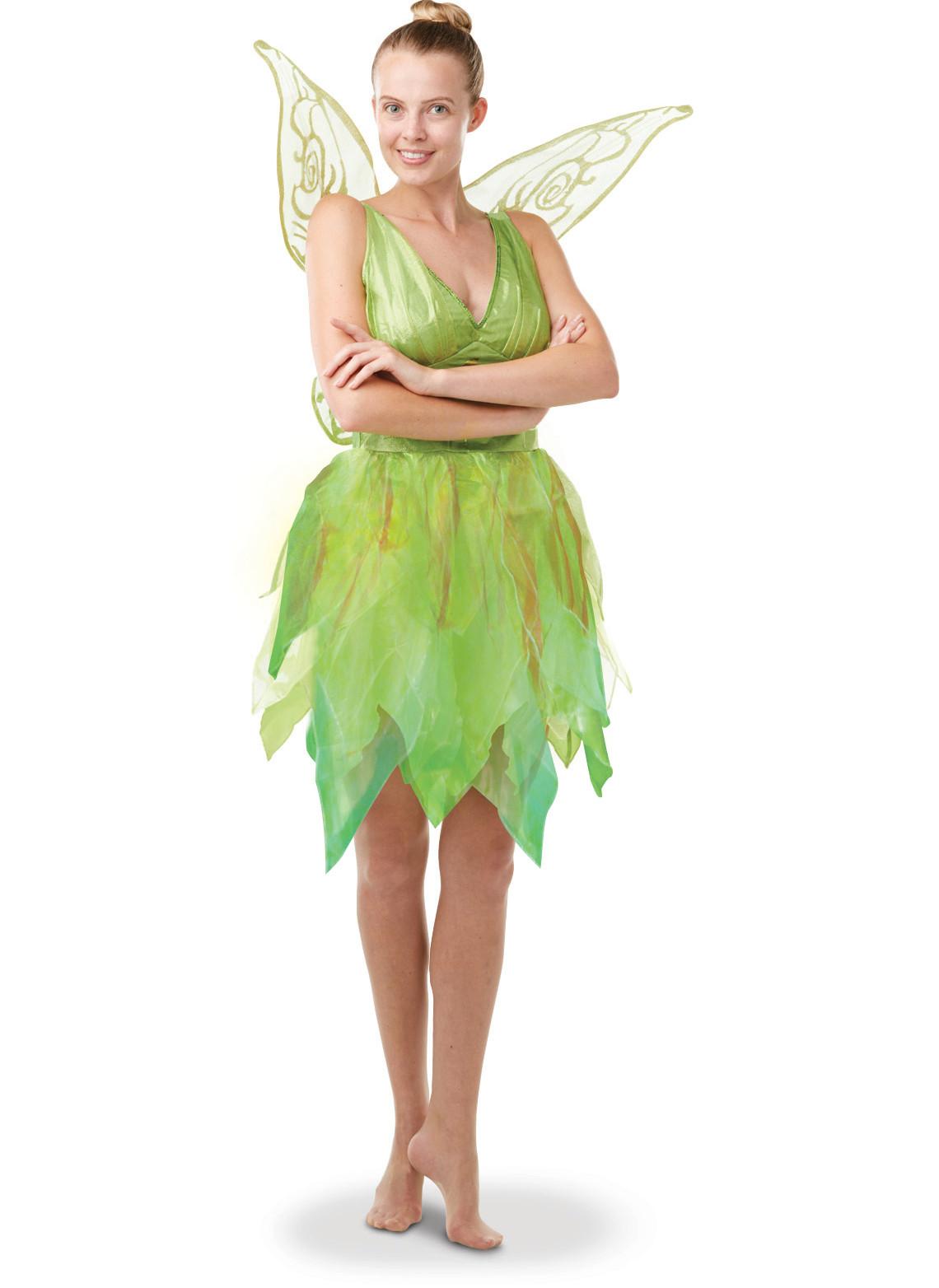Disney Tinkerbell Damenkostum Fee Lizenzware Grun Gunstige