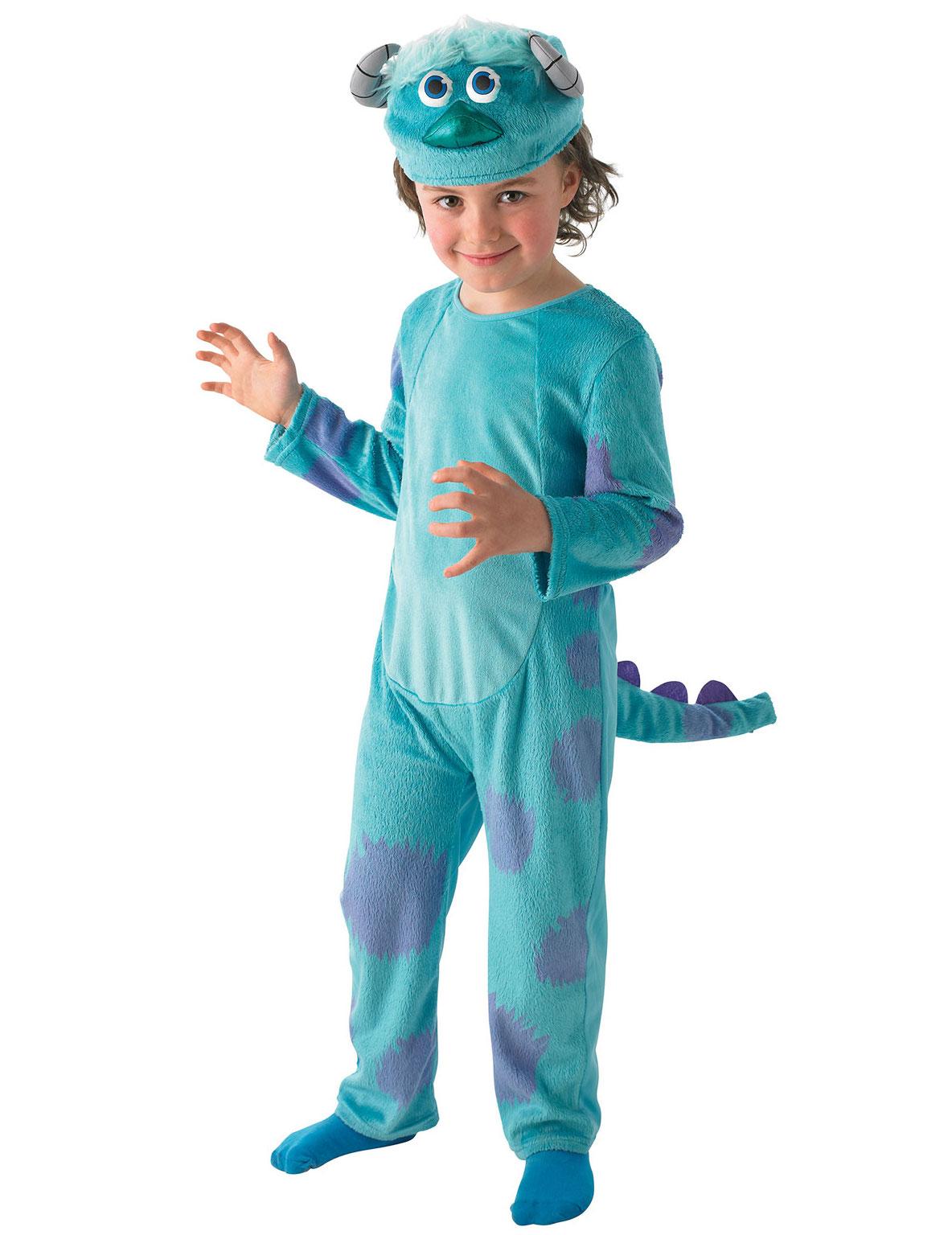 Monster Uni Kostum.Die Monster Uni Sulley Deluxe Kinder Kostum Lizenzware Blau Lila Gunstige Faschings Kostume Bei Karneval Megastore