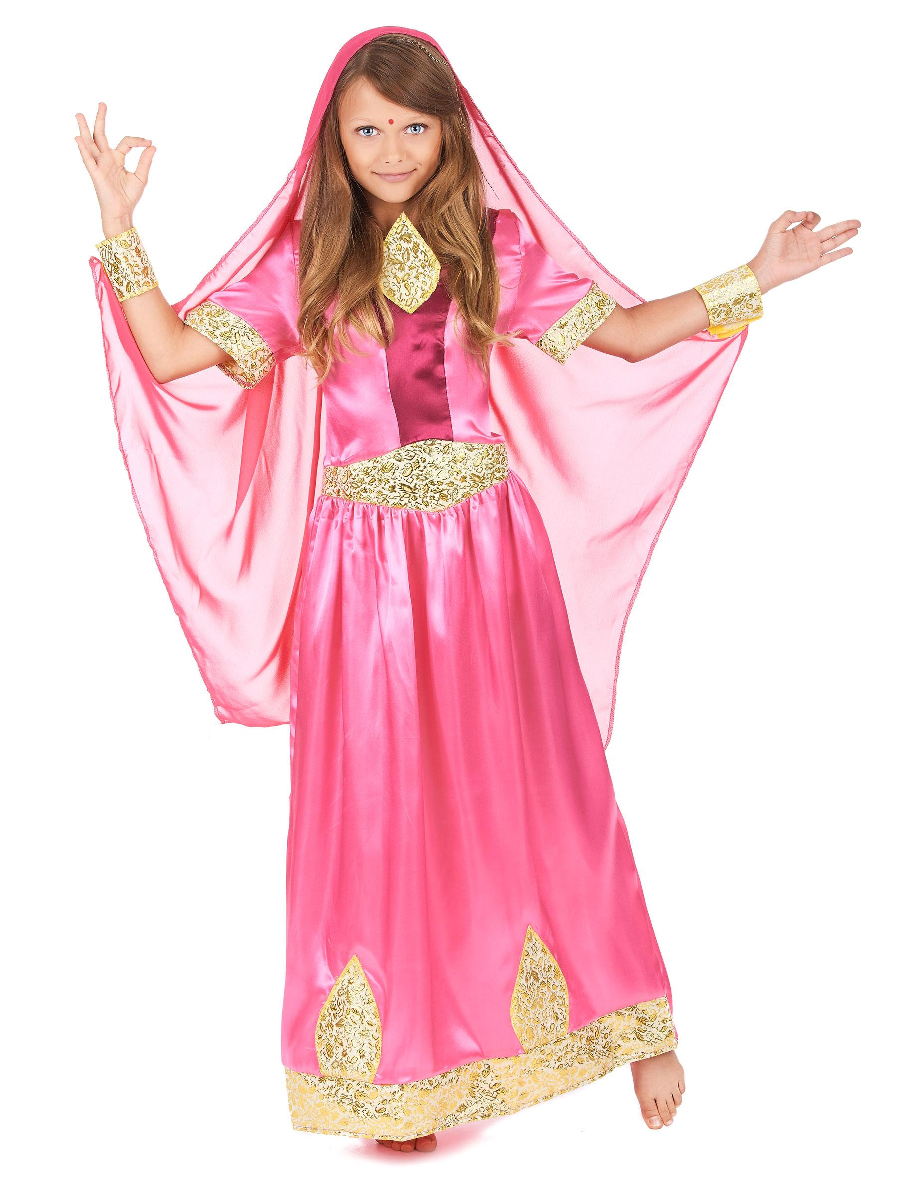 Bollywood Prinzessin Kinderkostum Orient Rosa Gold Gunstige