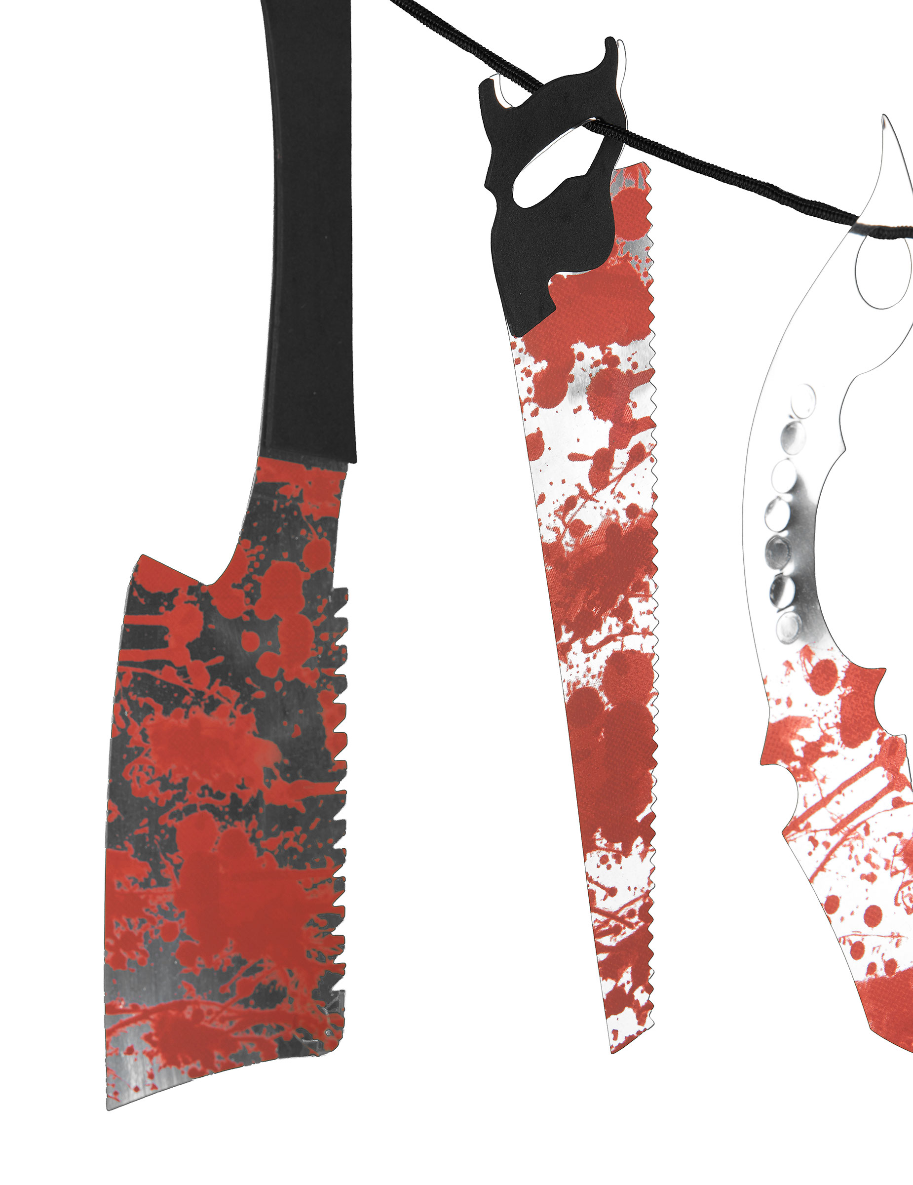 blutige girlande folter instrumente halloween party deko. Black Bedroom Furniture Sets. Home Design Ideas