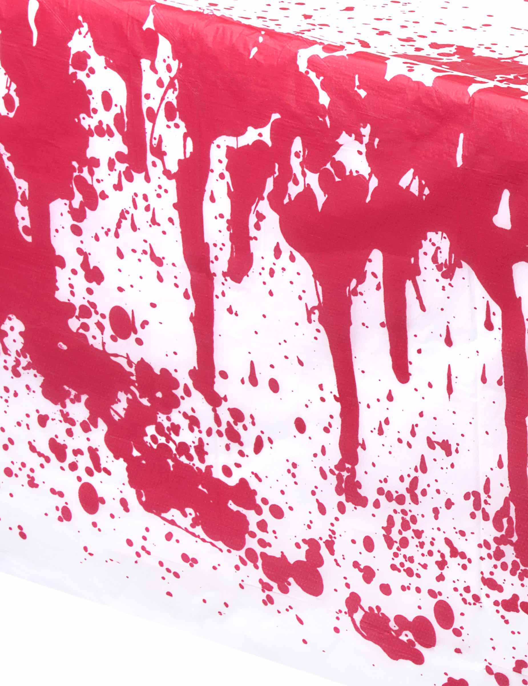 blutige tischdecke halloween tischdeko rot weiss. Black Bedroom Furniture Sets. Home Design Ideas