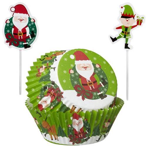 weihnachtliche cupcake formen motiv weihnachtsmann auf. Black Bedroom Furniture Sets. Home Design Ideas
