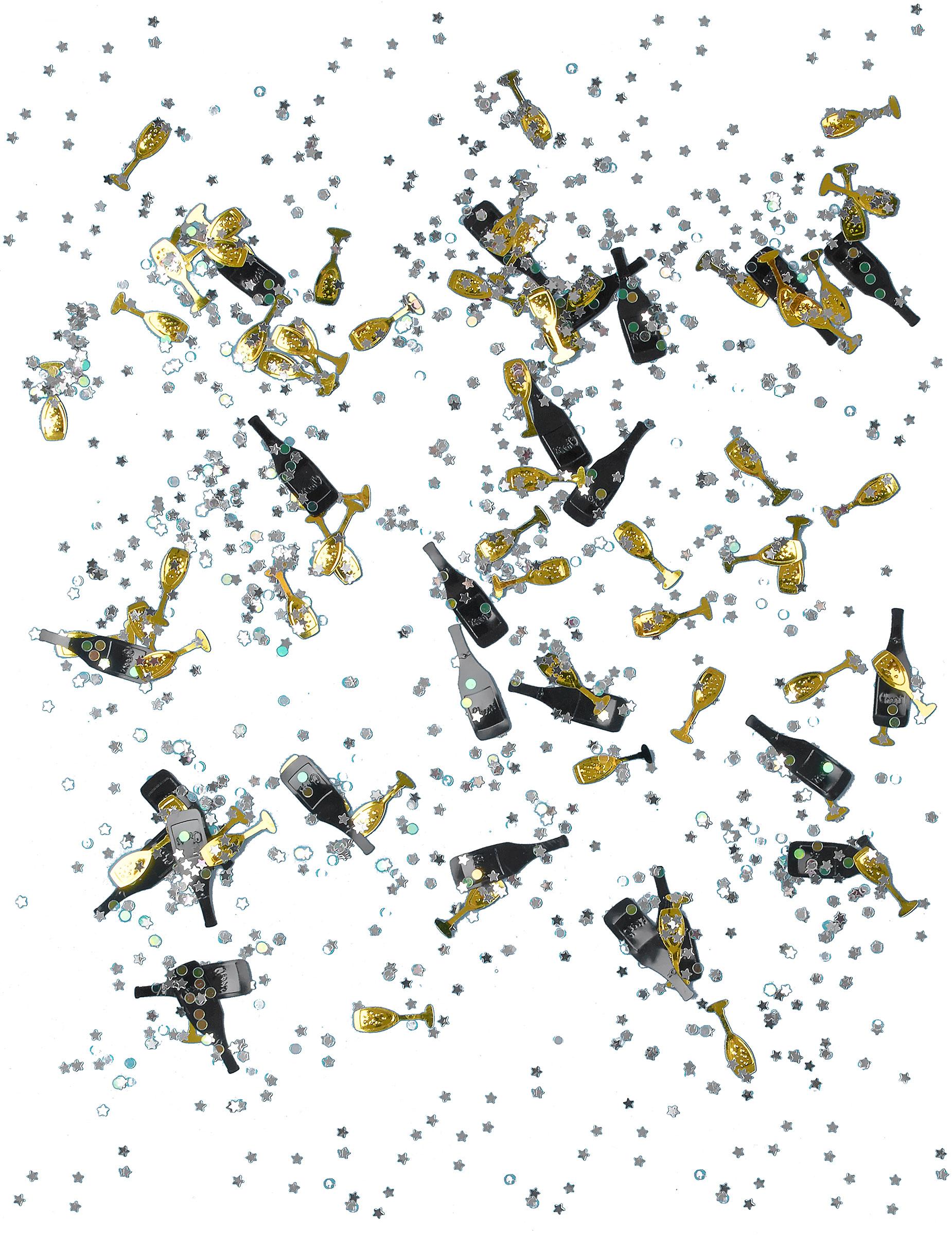 silvester konfetti cheers party deko schwarz gold 14g. Black Bedroom Furniture Sets. Home Design Ideas