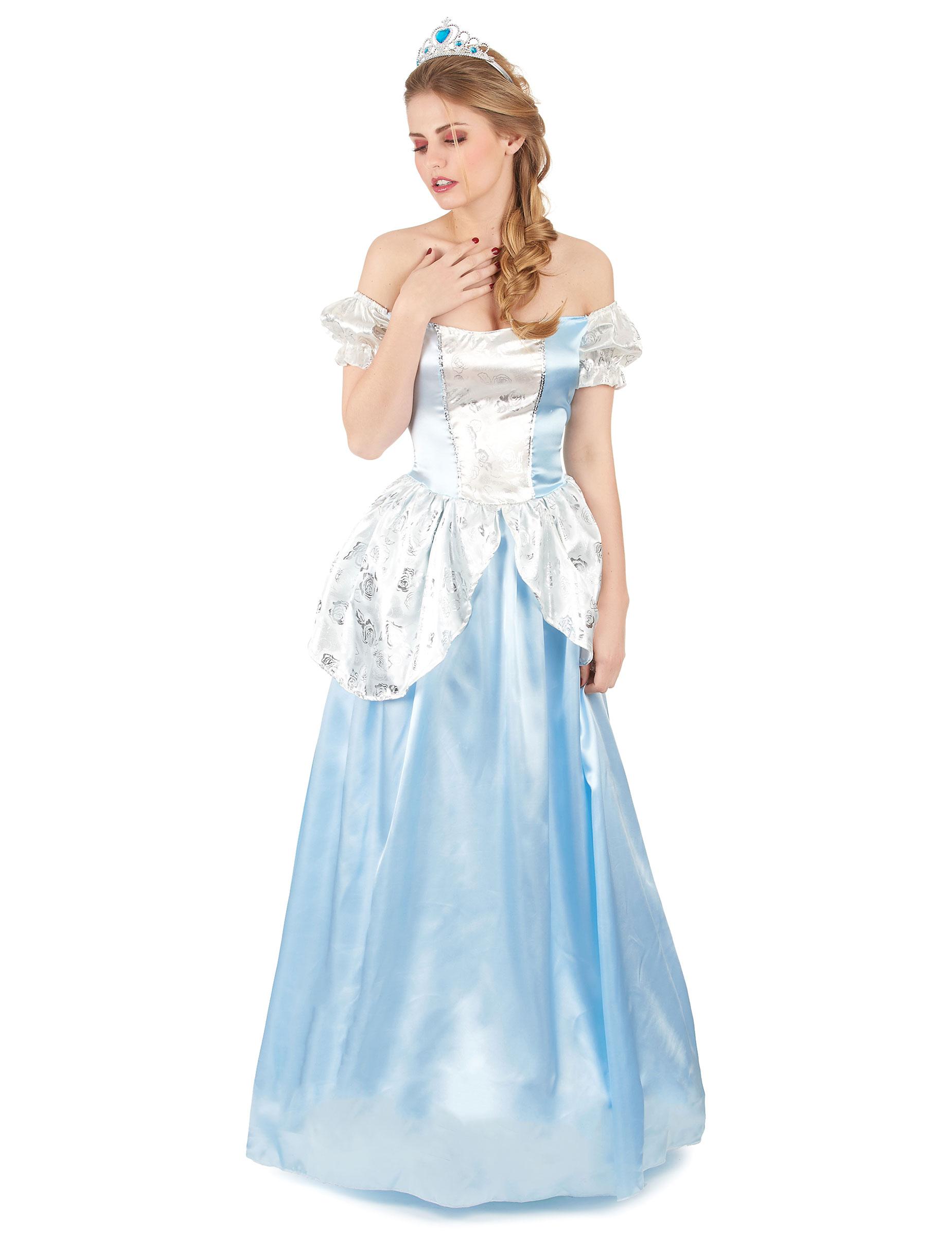 Prinzessinnen-Kostüm für Damen hellblau