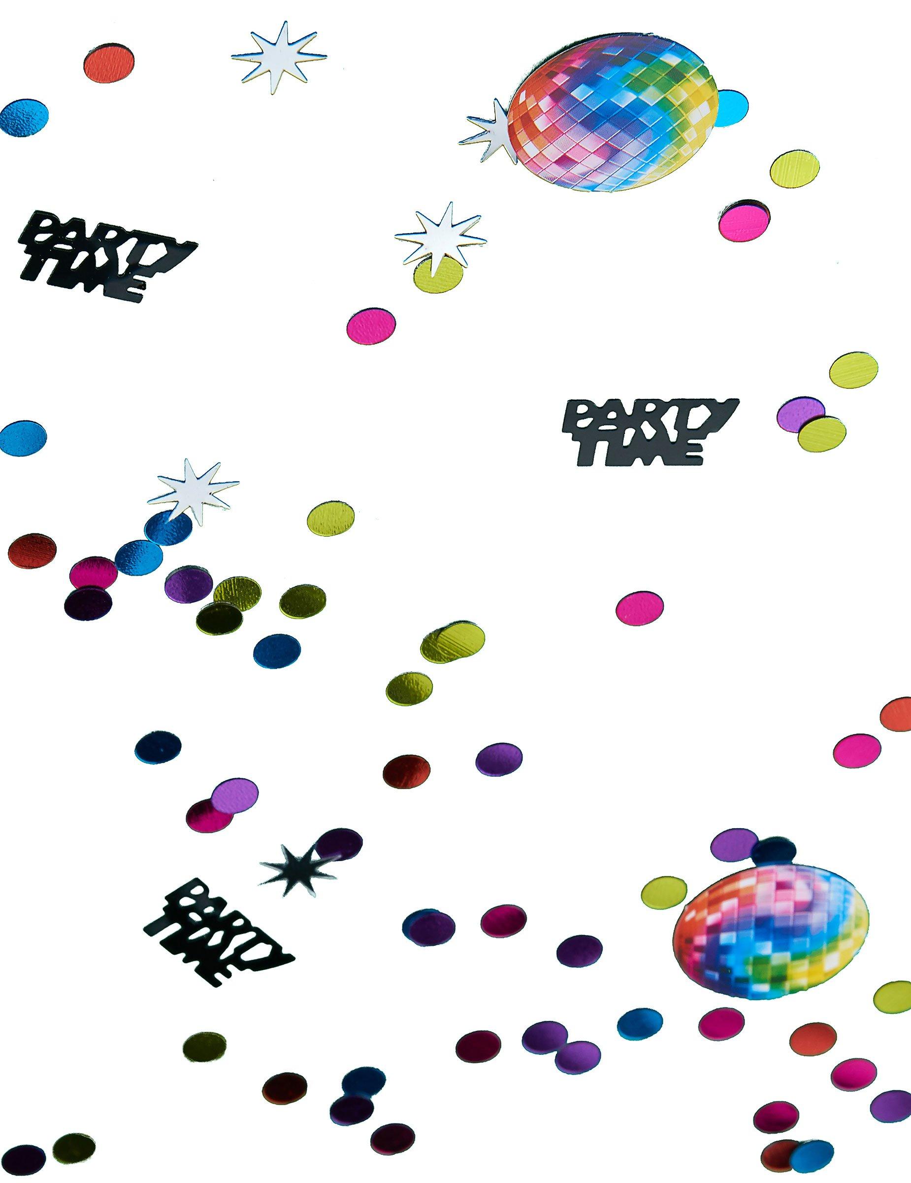 70er disco konfetti party deko 34g bunt g nstige. Black Bedroom Furniture Sets. Home Design Ideas