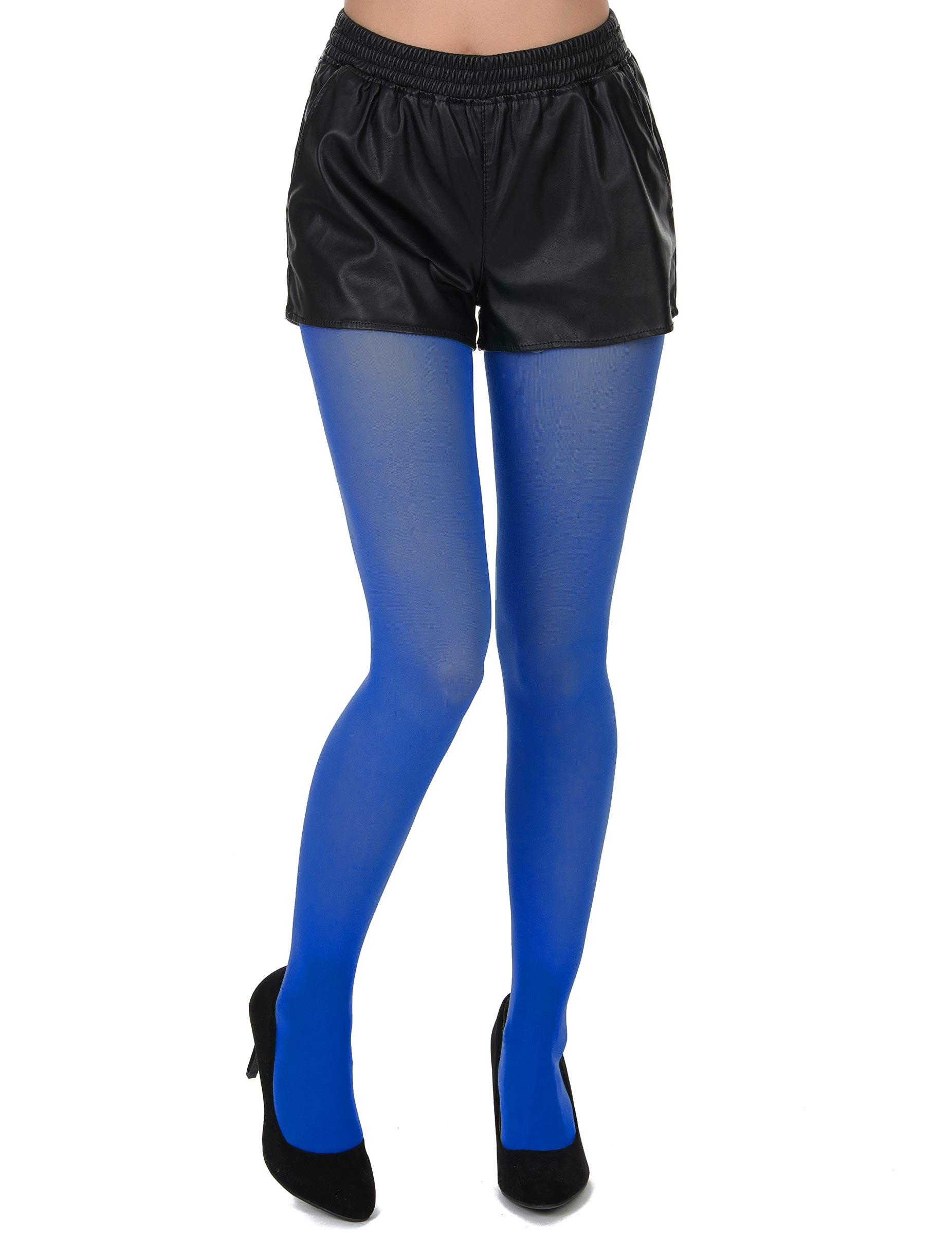 dcedc2504e0332 Strumpfhose Blickdicht 60 DEN blau
