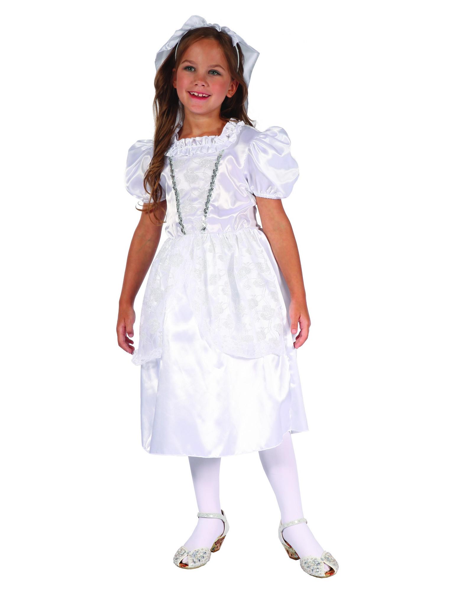Braut-Kostüm für Mädchen Hochzeitskostüm weiss-silber