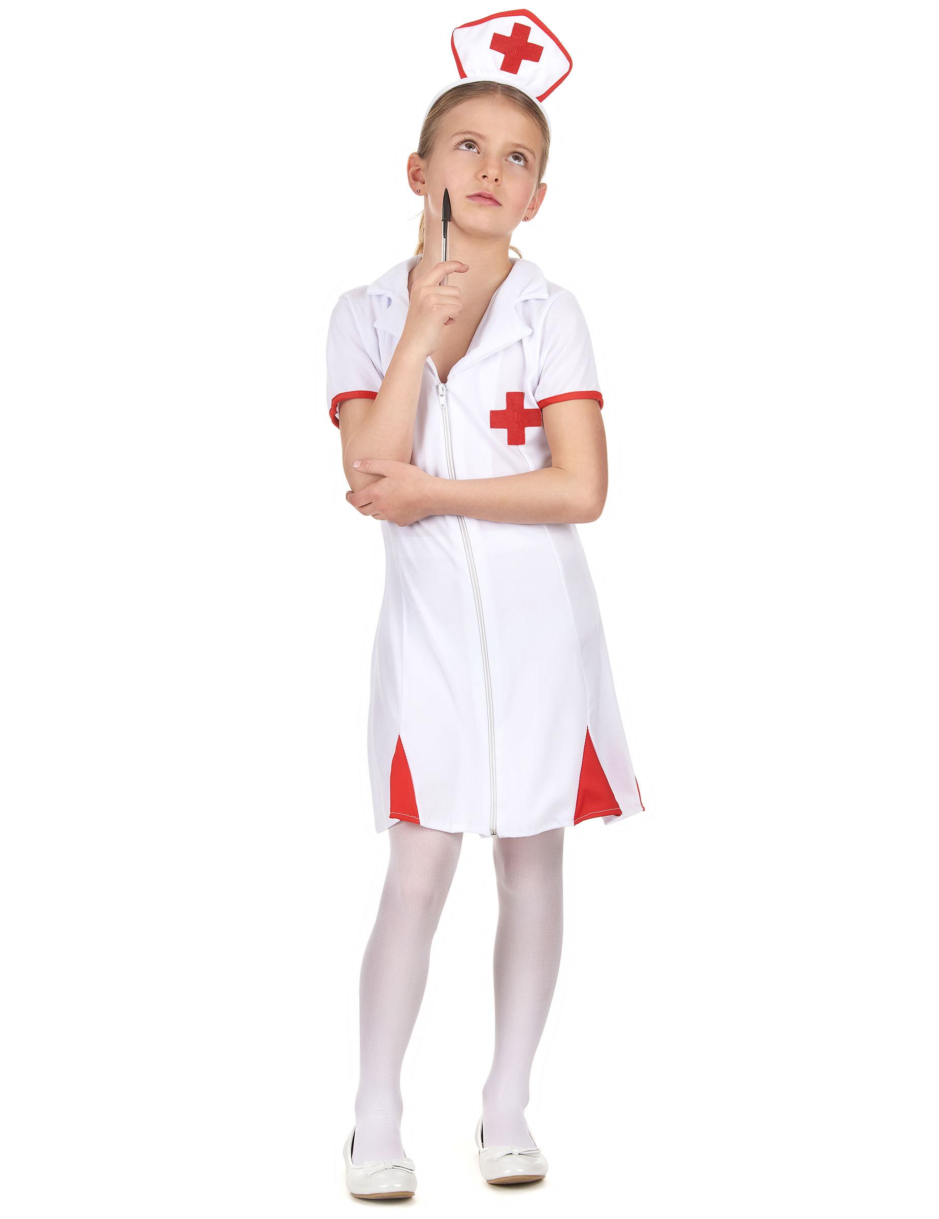 Kleine Krankenschwester Kinder Kostum Rot Weiss Gunstige
