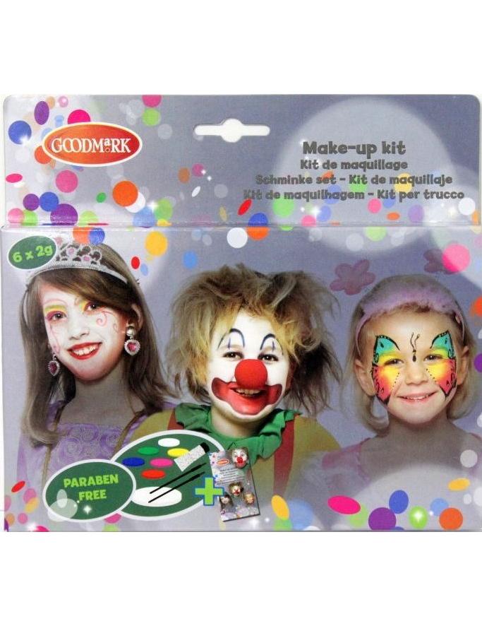 make up set prinzessin und clown schminkset 10 teilig bunt. Black Bedroom Furniture Sets. Home Design Ideas