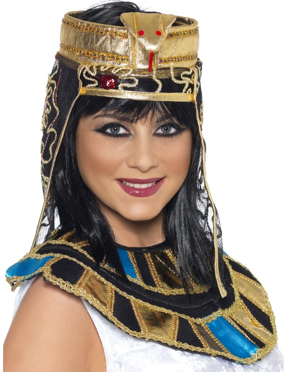Agypter Pharaonin Schleier Gold Schwarz Gunstige Faschings