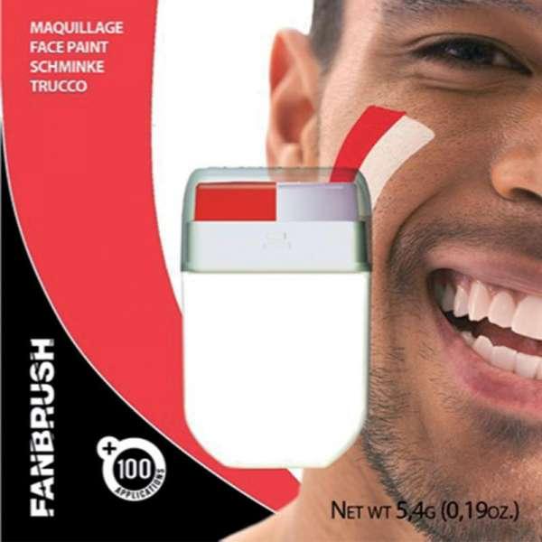Make-up Stick Fanartikel Schminke rot-weiß