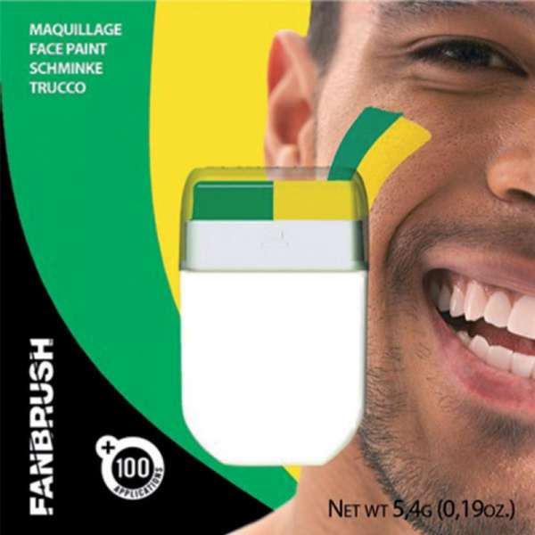 Make-up Stick Fanartikel Schminke grün-gelb