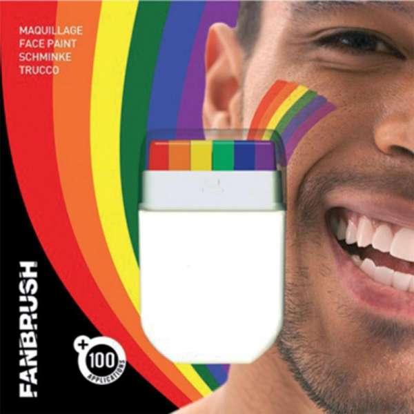 Make Up Stick Schminke Regenbogen Bunt Gunstige Faschings Make Up