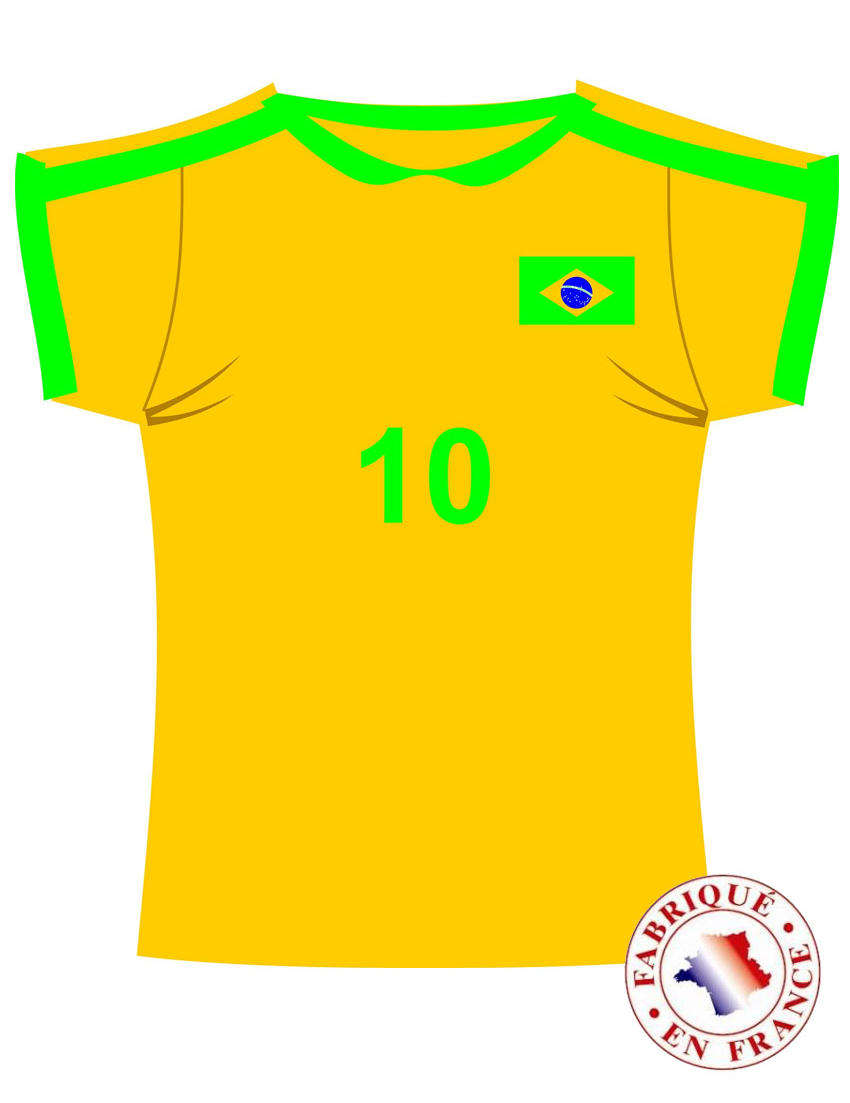 Wanddeko trikot brasilien fussball gelb gr n blau g nstige faschings partydeko zubeh r bei - Wanddeko fussball ...