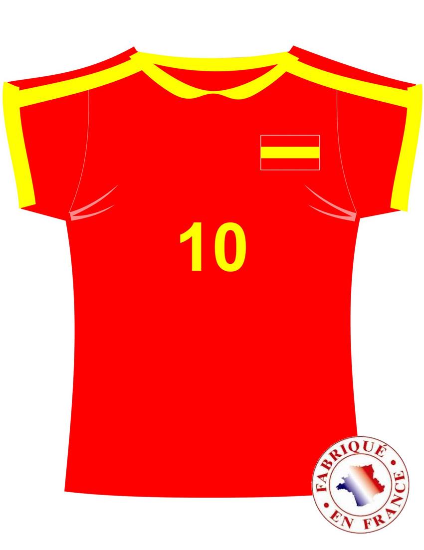 Wanddeko trikot spanien fussball rot gelb g nstige faschings partydeko zubeh r bei karneval - Wanddeko fussball ...