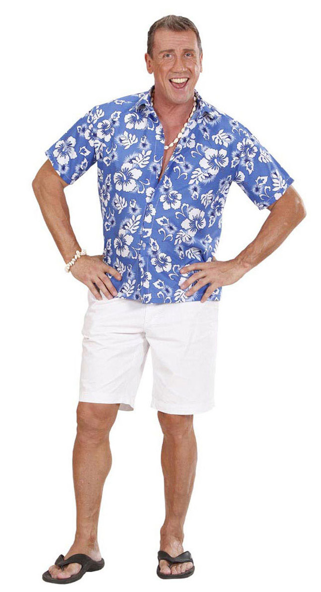 hawaii hemd xl blau weiss g nstige faschings kost me bei karneval megastore. Black Bedroom Furniture Sets. Home Design Ideas
