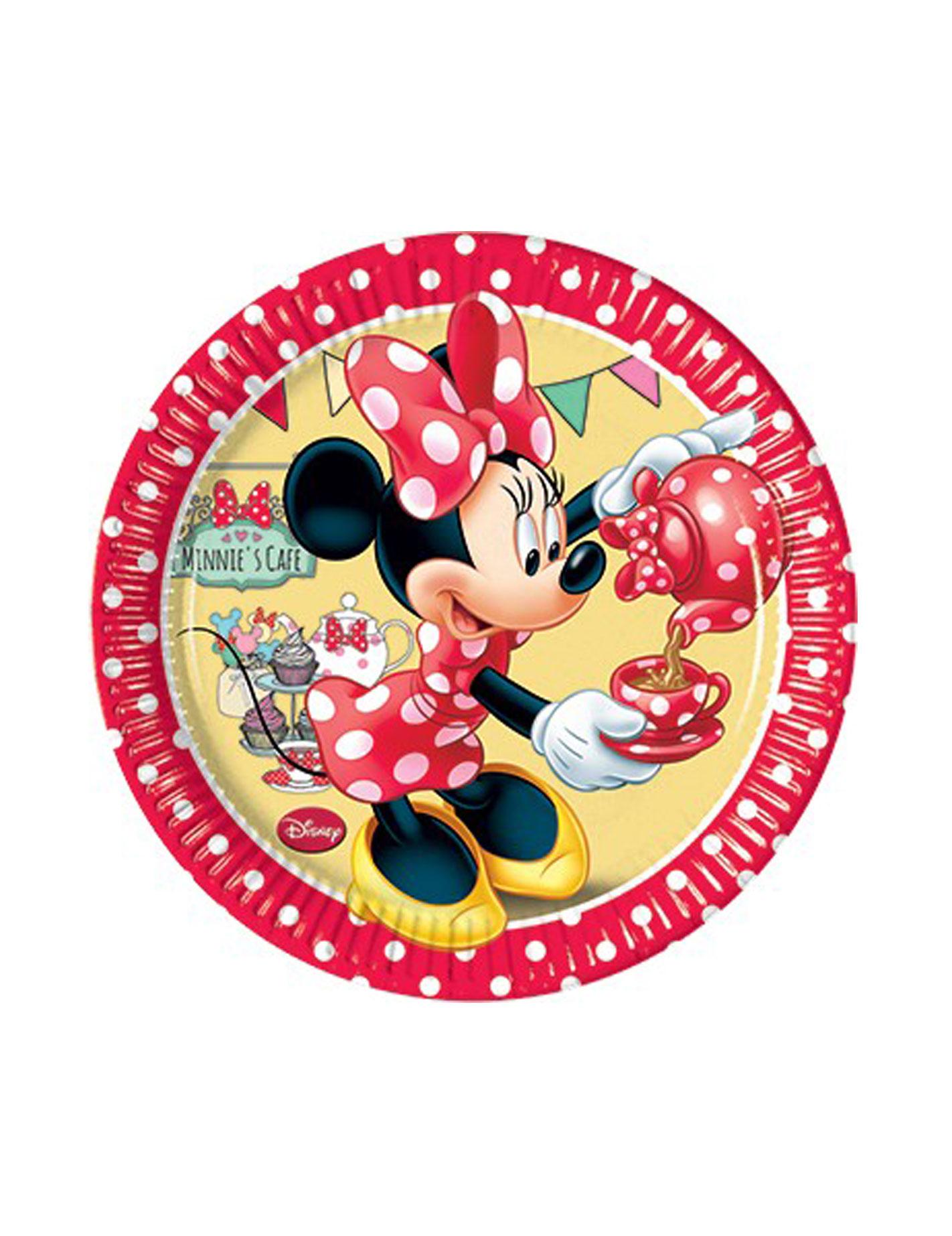 Minnie Mouse Pappteller Party-Deko 8 Stück bunt 20cm , günstige ...
