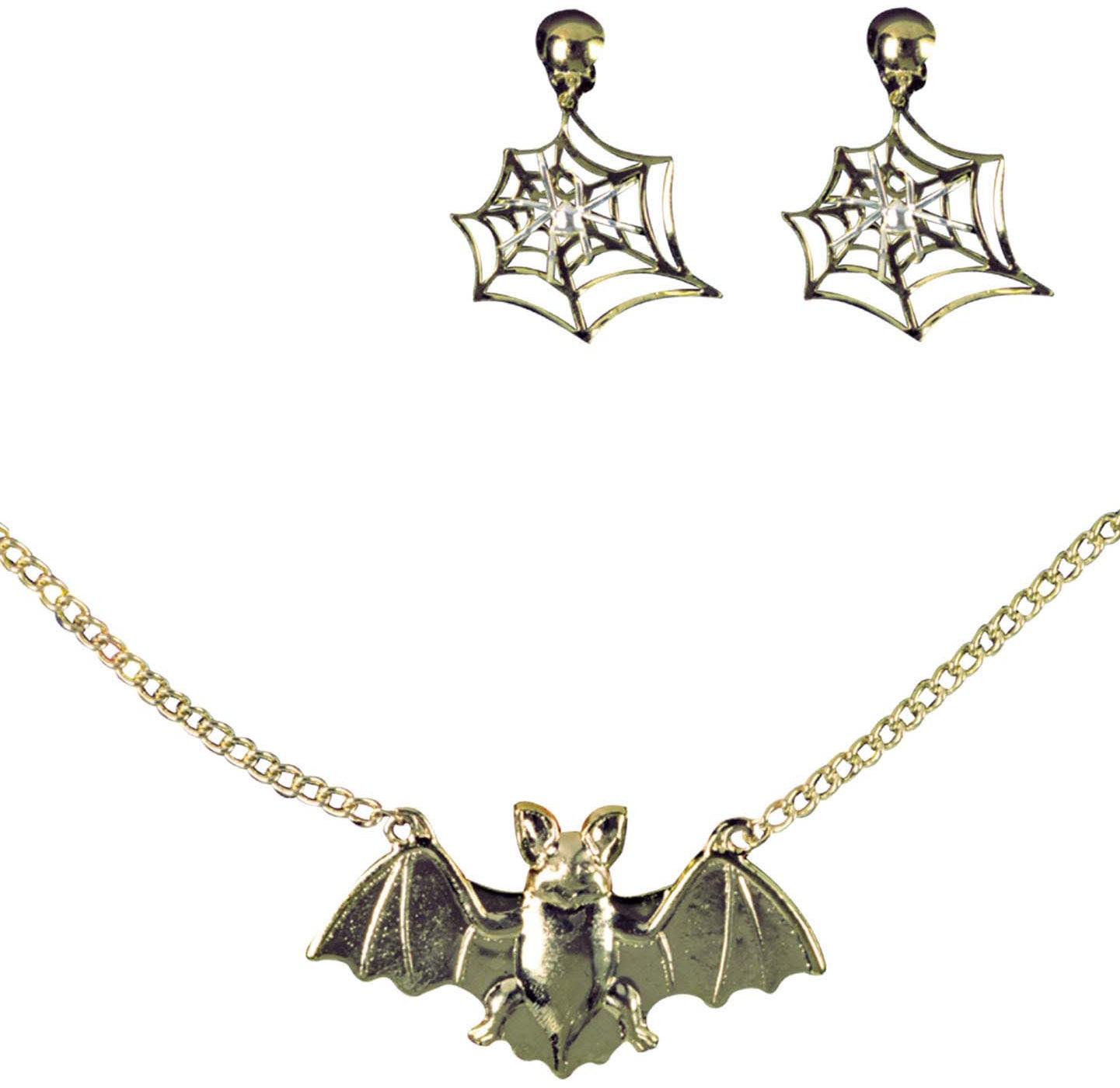 Schmuckkette Halloweenkostümzubehör Vampir Karneval Halskette mit Fledermaus