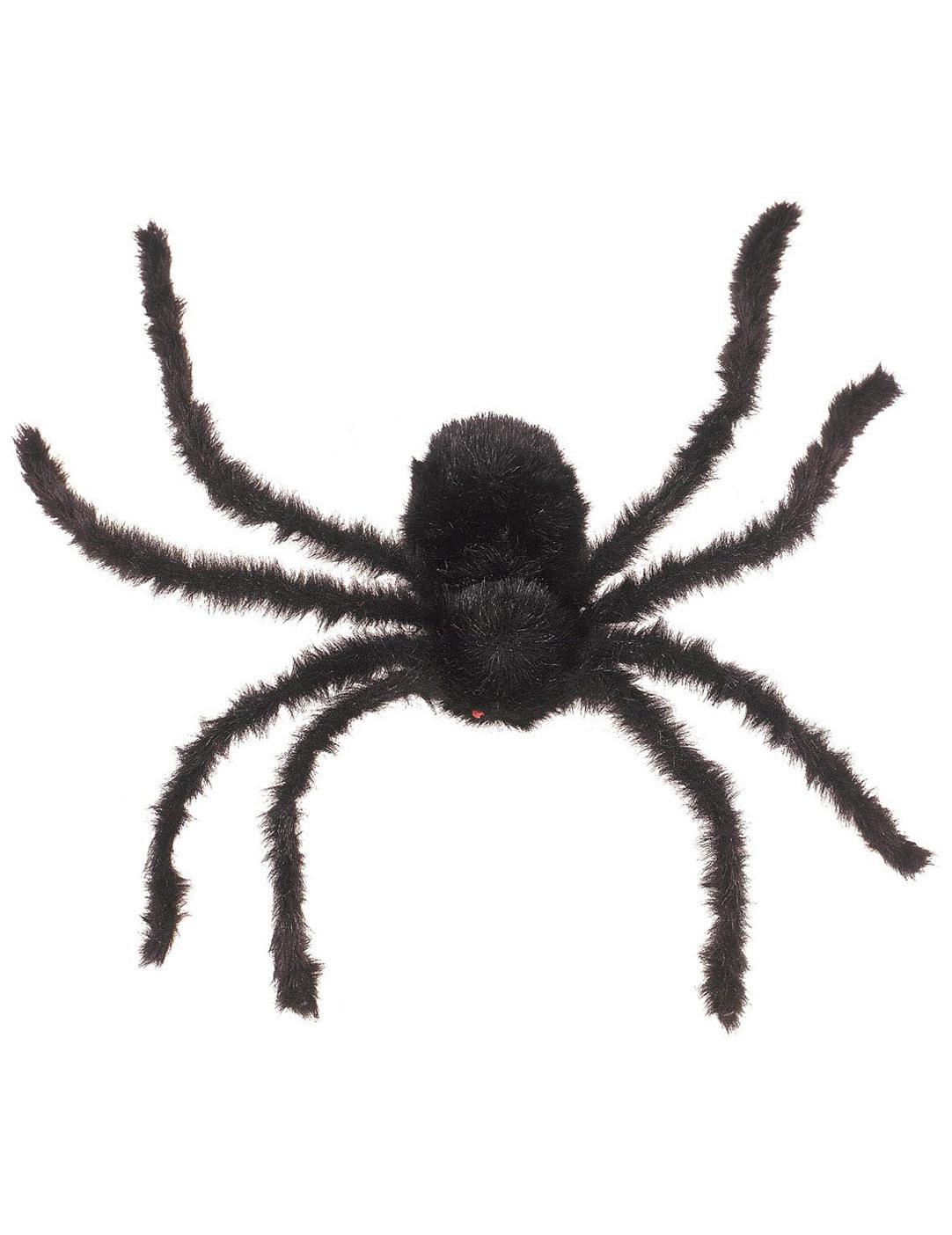 behaarte riesenspinne halloween deko schwarz 75cm. Black Bedroom Furniture Sets. Home Design Ideas