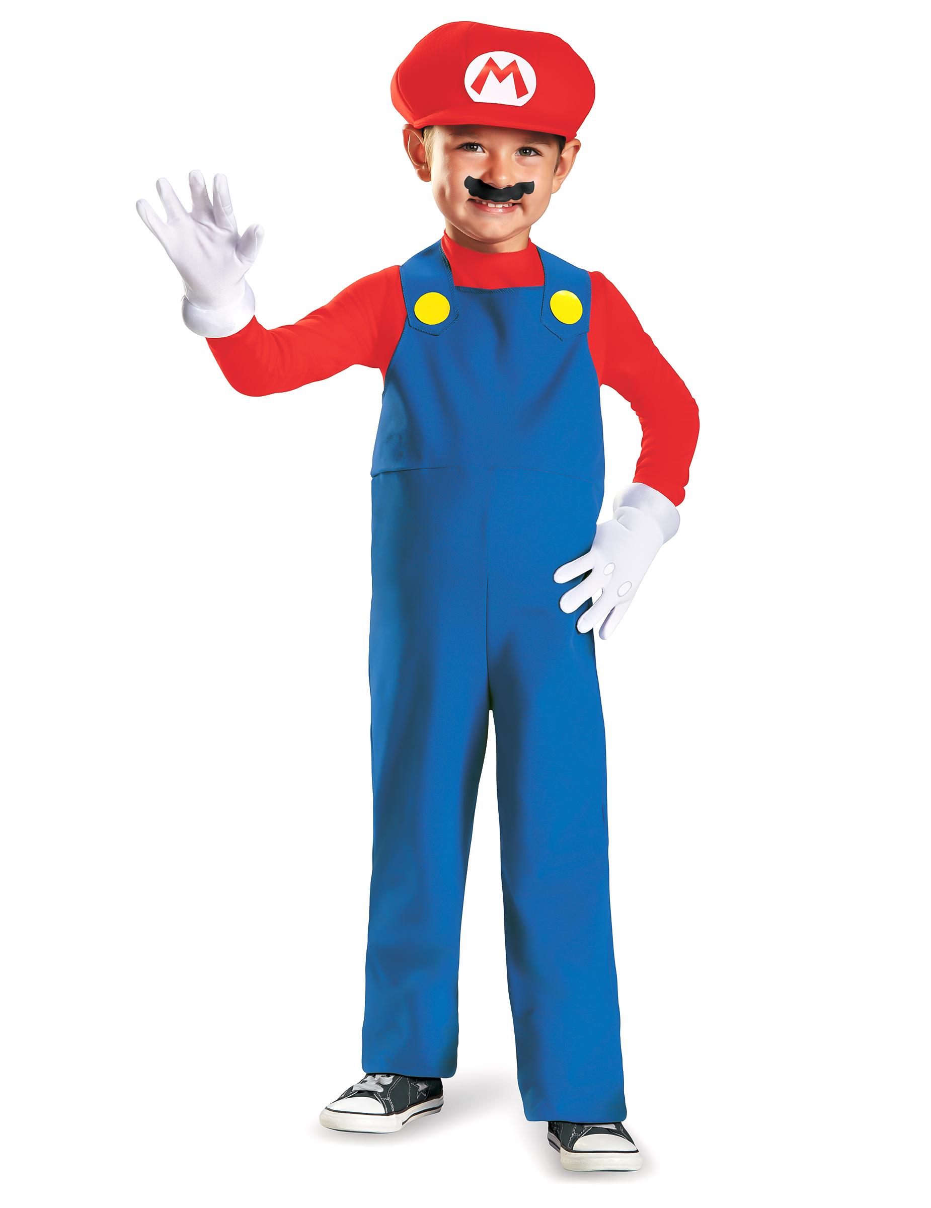 a1aac583a5fd92 Mario Kinderkostüm Super Mario Videospiel rot-blau-weiss , günstige ...