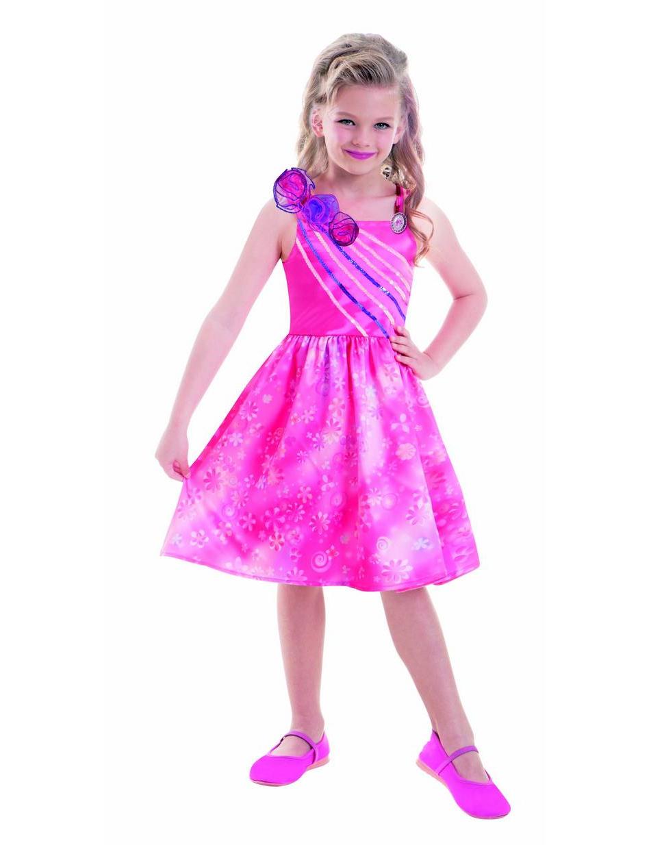 Prinzessin Barbie Kinderkostum Fur Madchen Lizenzartikel Rosa Blau