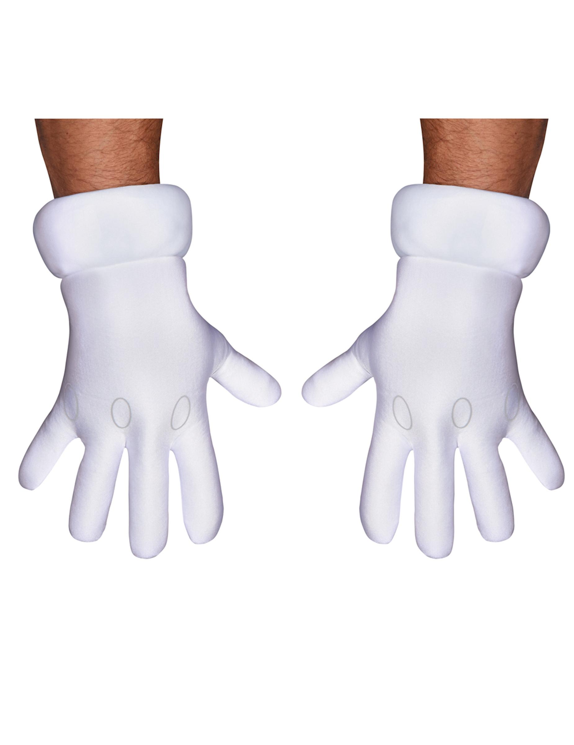 ebe59afbb982d3 Mario Handschuhe Kostüm-Accessoire für Erwachsene weiss , günstige ...