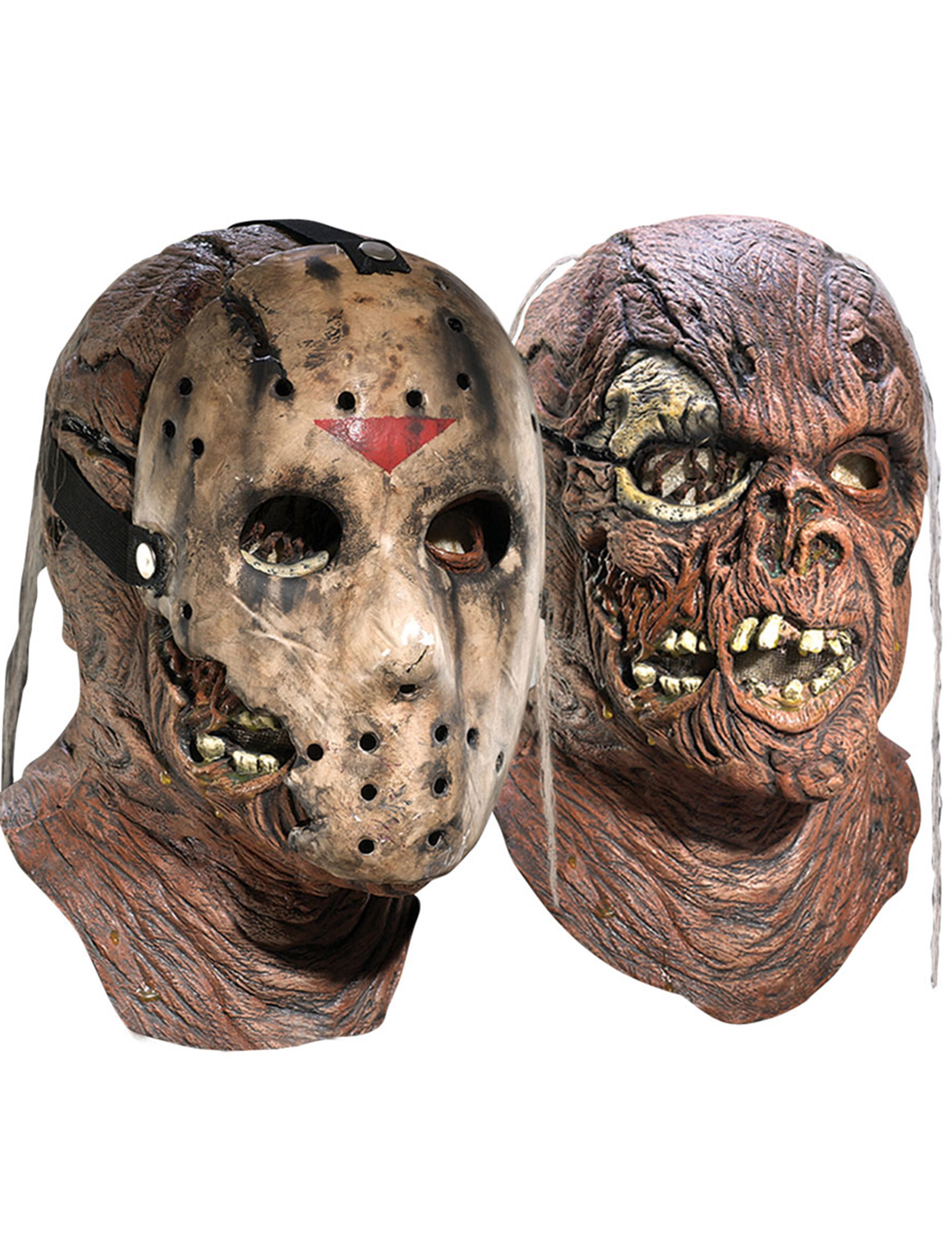 Jason Vorhees Freitag Der 13 Halloween Lizenzmaske Braun Gunstige Faschings Masken Bei Karneval Megastore