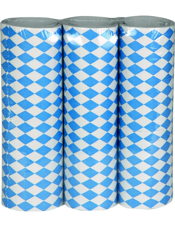 luftschlangen oktoberfest tischdeko 3 st ck blau weiss. Black Bedroom Furniture Sets. Home Design Ideas