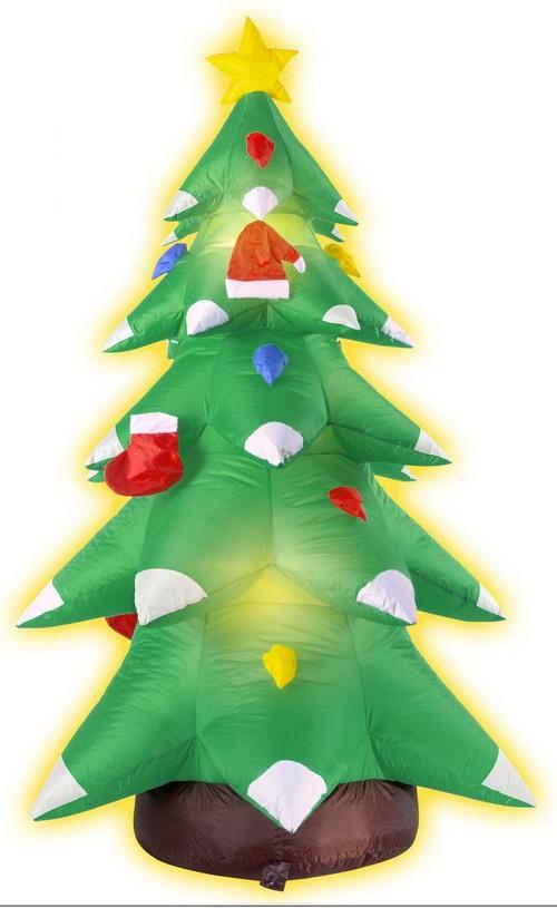 aufblasbarer weihnachtsbaum weihnachts deko gr n weiss rot. Black Bedroom Furniture Sets. Home Design Ideas
