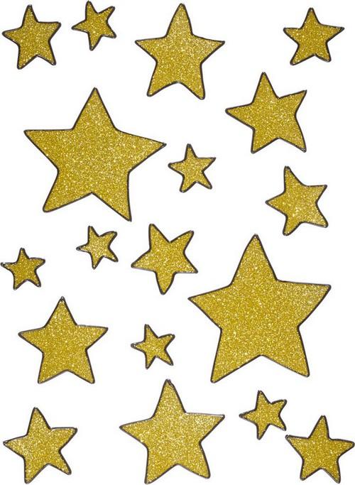 Weihnachtsdeko Gold.Weihnachtsdeko Gold Sterne Fürs Fenster