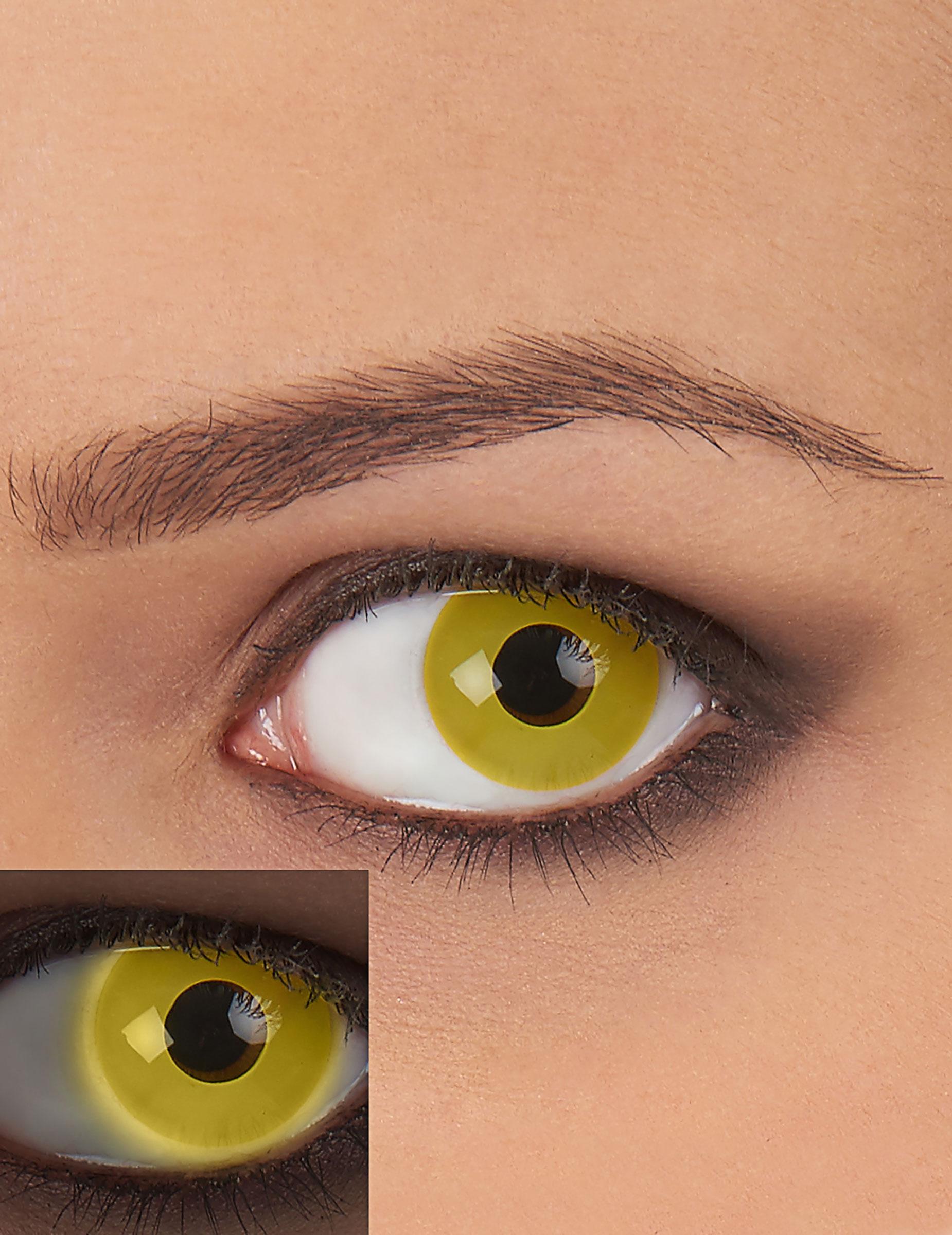 uv kontaktlinsen gelb g nstige faschings make up bei. Black Bedroom Furniture Sets. Home Design Ideas