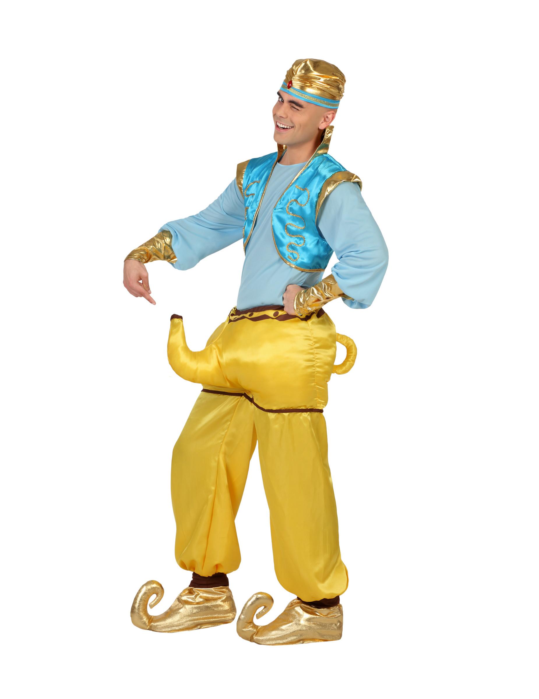 Fun Kostum Orientalischer Flaschengeist Fur Erwachsene Gelb Blau