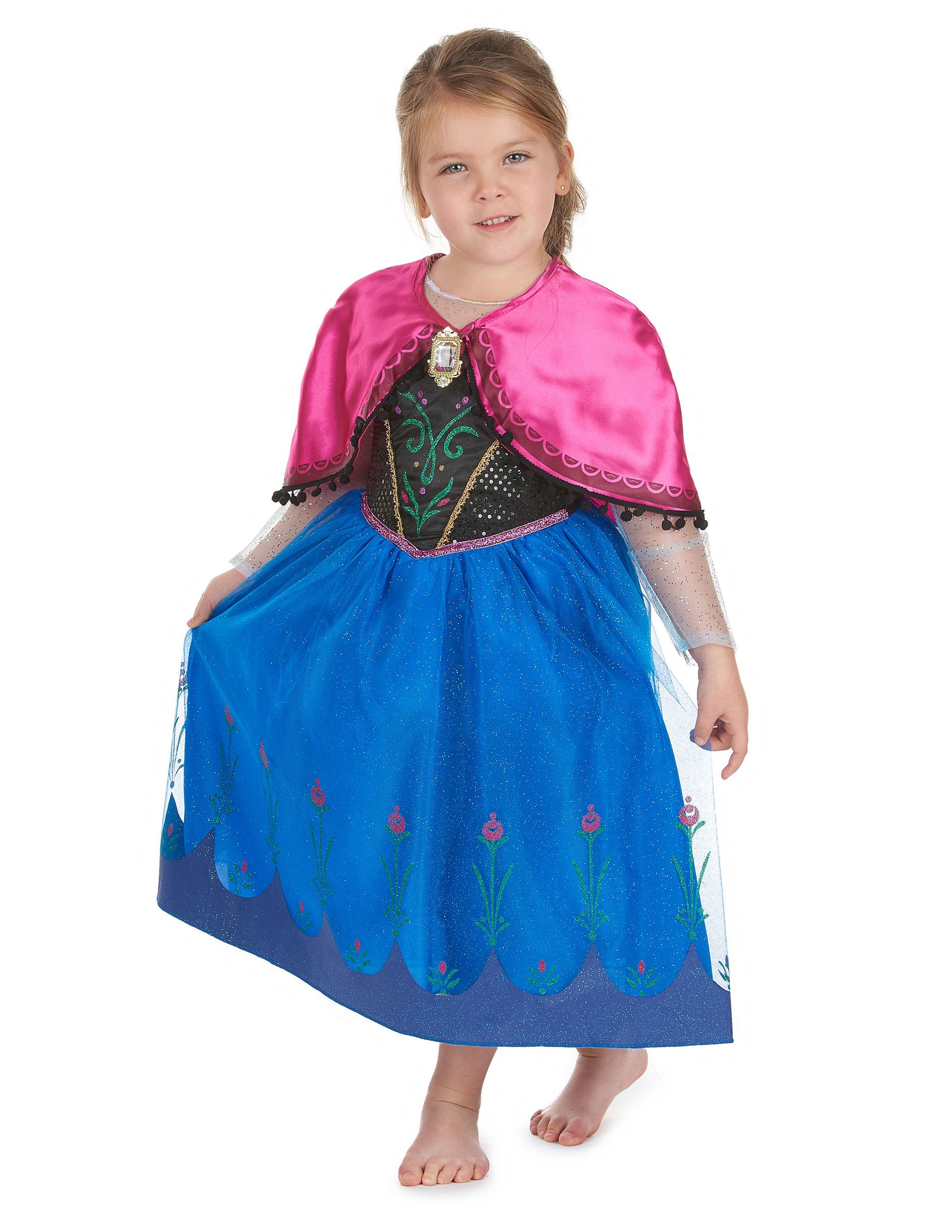 Edles Anna Kostüm für Mädchen Die Eiskönigin blau-pink ...