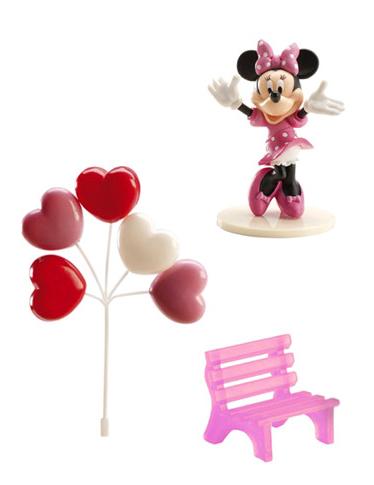 Kuchen Deko Lizenzartikel Minnie Maus 3-teilig rosa , günstige ...
