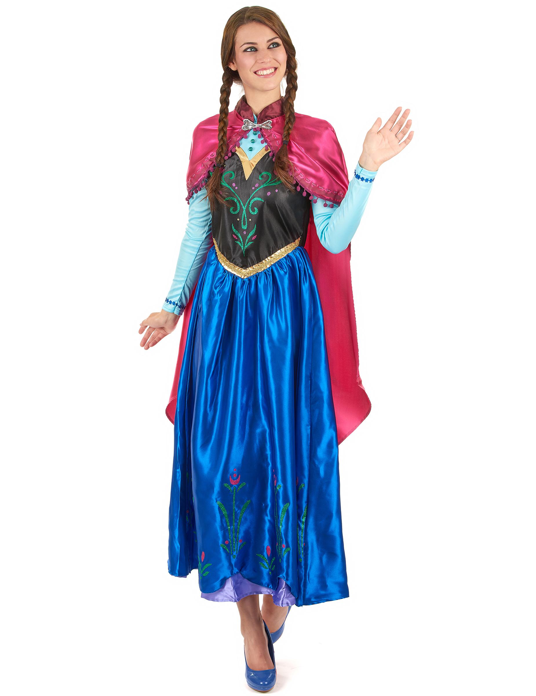 Disney Frozen Die Eiskonigin Anna Kostum Fur Damen Bunt Gunstige