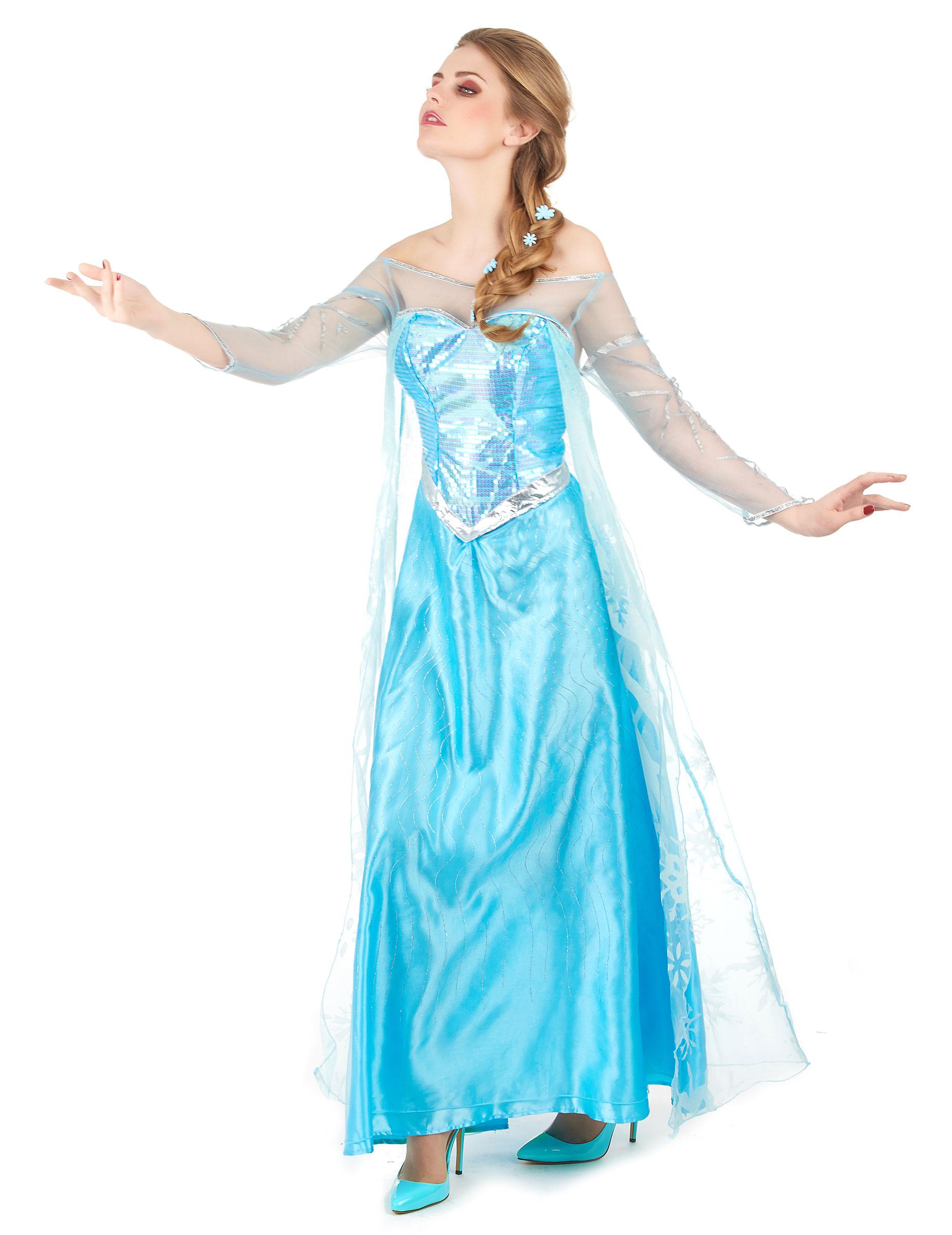 Disney Frozen Die Eiskonigin Elsa Damenkostum Lizenzartikel