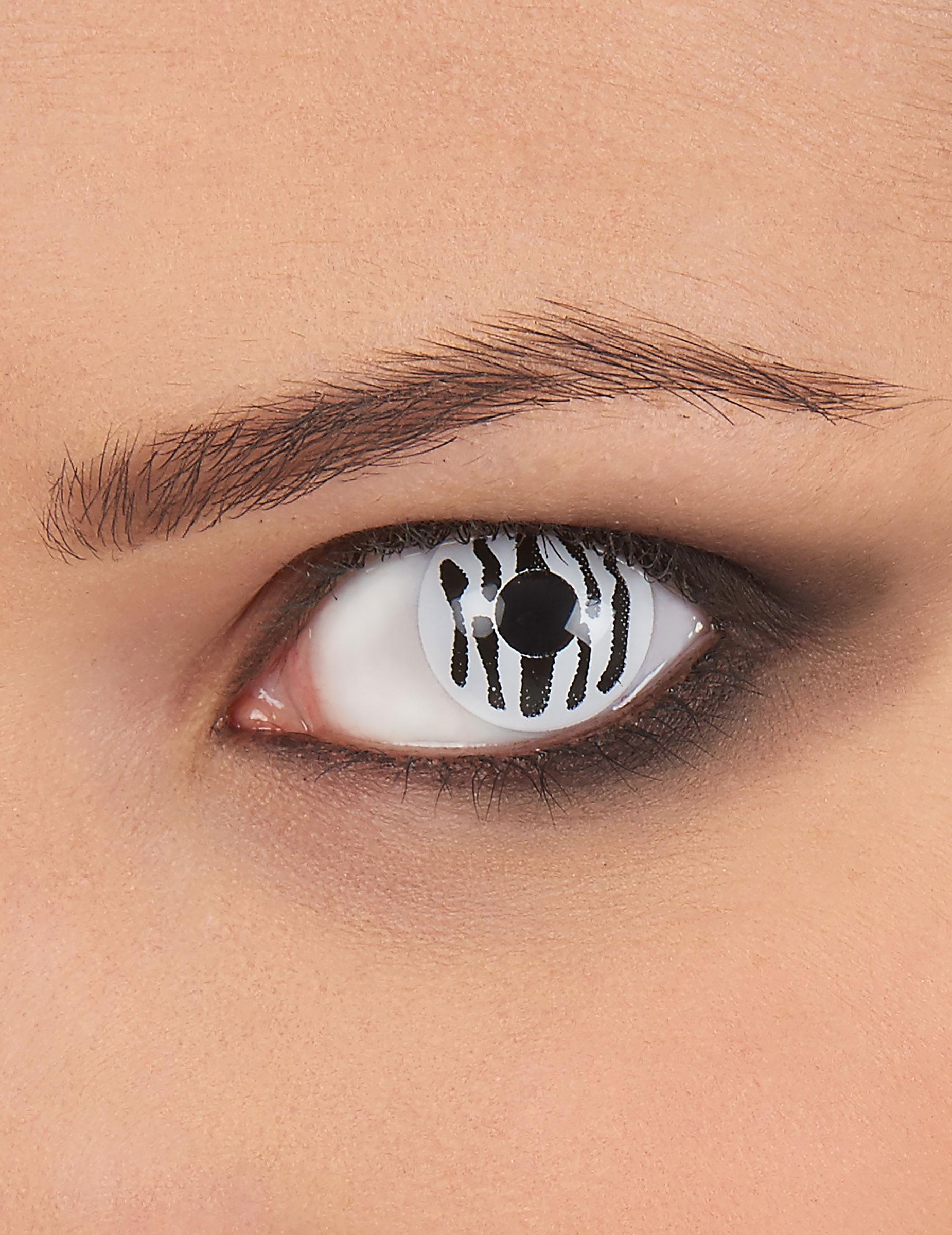 Kontaktlinsen Zebra Schwarz Weiss Gunstige Faschings Make Up Bei