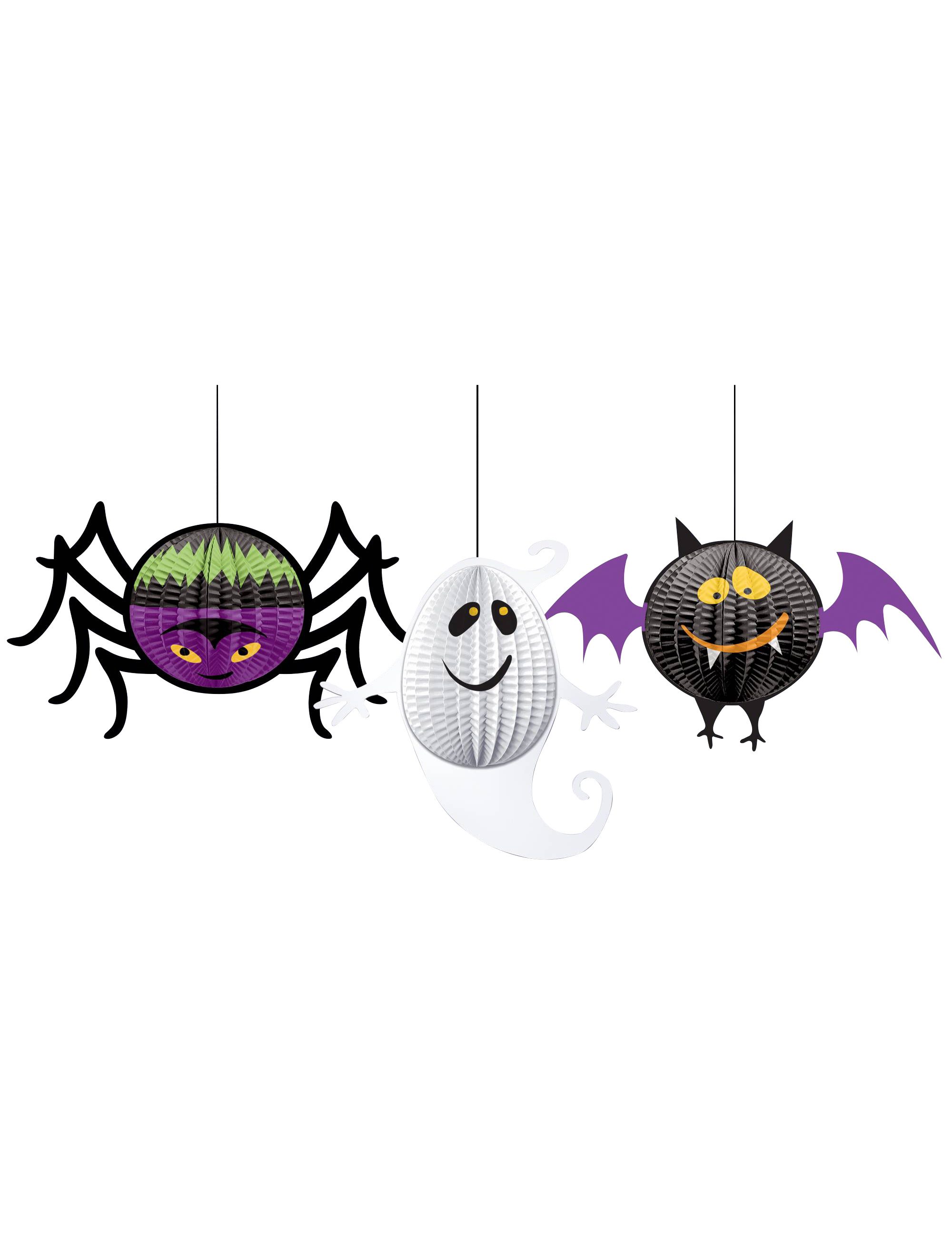 halloween kinderparty wabendeko 3 teilig bunt 20cm g nstige faschings partydeko zubeh r bei. Black Bedroom Furniture Sets. Home Design Ideas