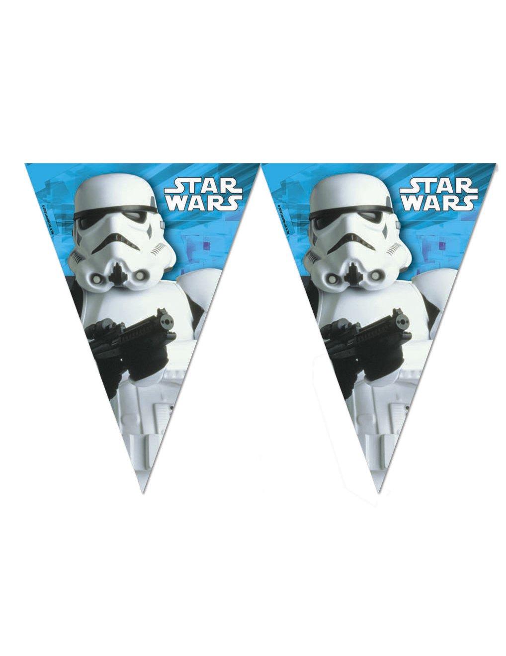 star wars wimpel girlande stormtrooper party deko bunt 280cm g nstige faschings partydeko. Black Bedroom Furniture Sets. Home Design Ideas