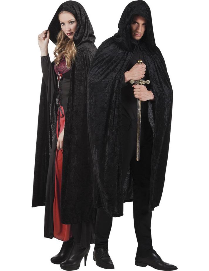 Proumhang Roter Umhang mit Kapuze Darth Vader Umhang Mittelalter Umhang Cape Mantel Satin Karneval Halloween Weihnachten Kost/üm Erwachsene