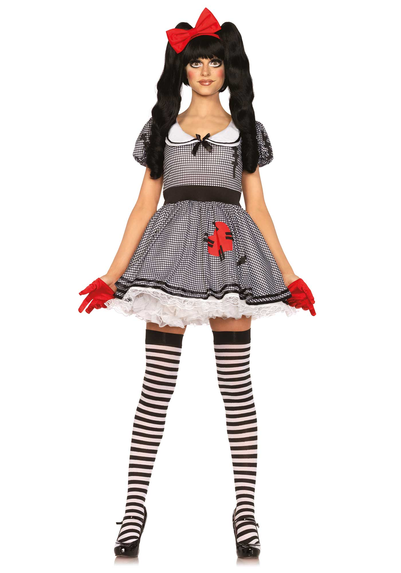 donna Wind Toy Doll Costume Bianco Rosso Doll da Nero Up rECoQedxWB