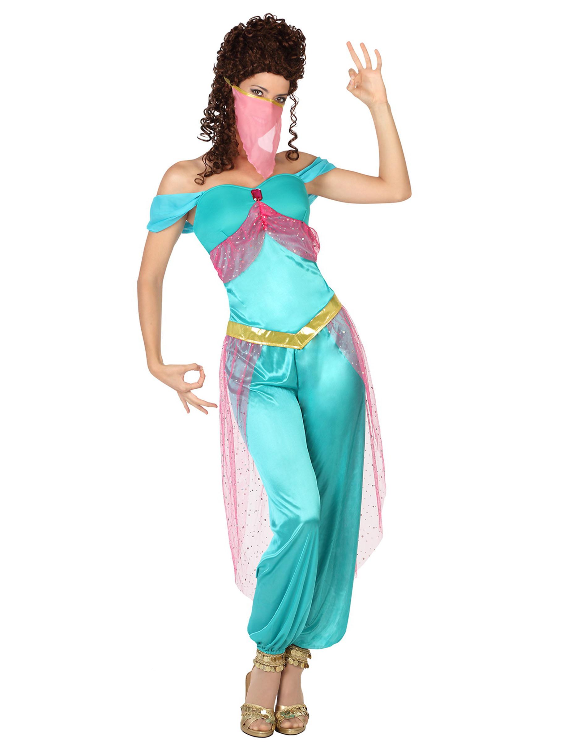 Orientalische Tanzerin Damenkostum Turkis Gunstige Faschings