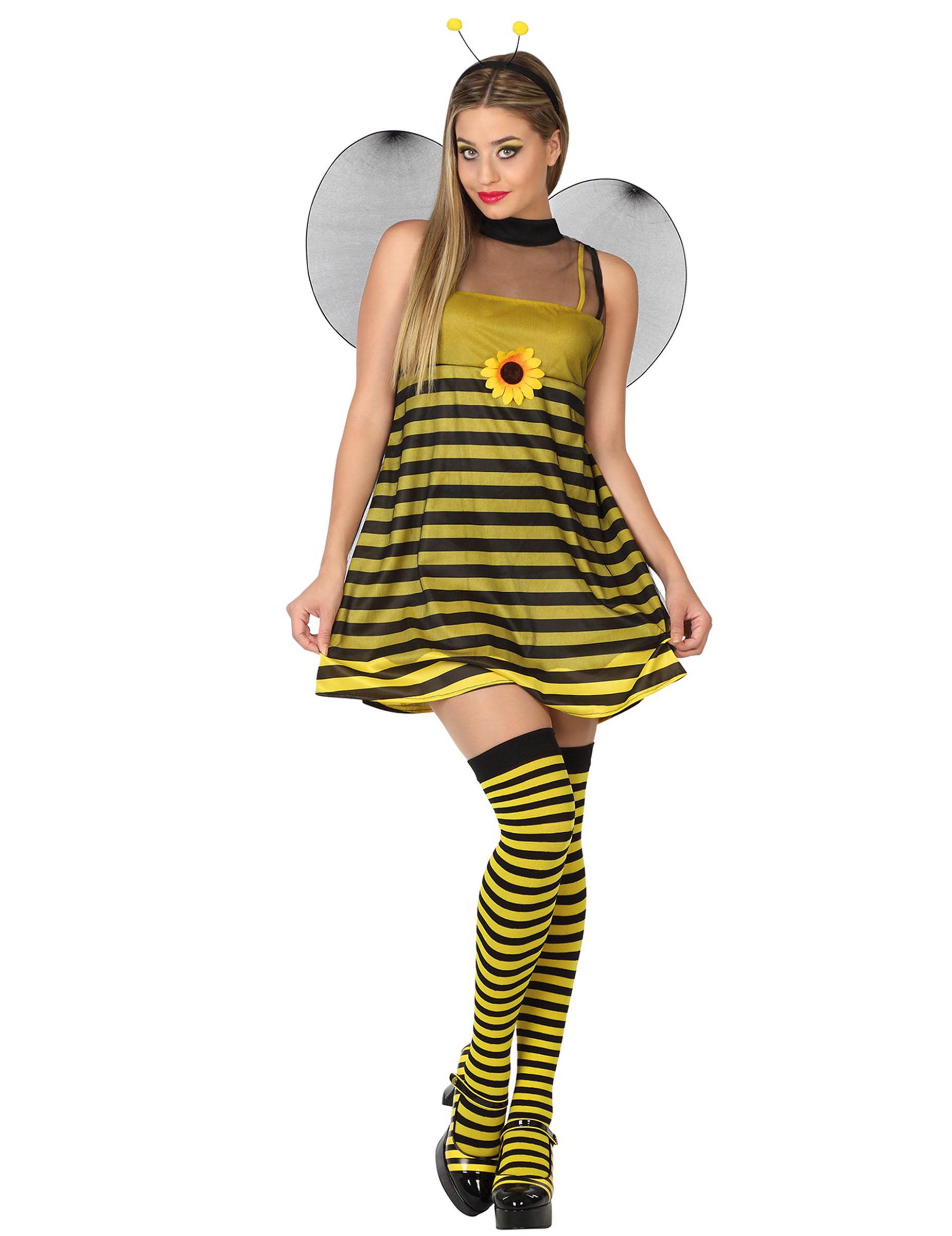 Bezauberndes Damen Bienenkostum Gelb Schwarz Gunstige Faschings