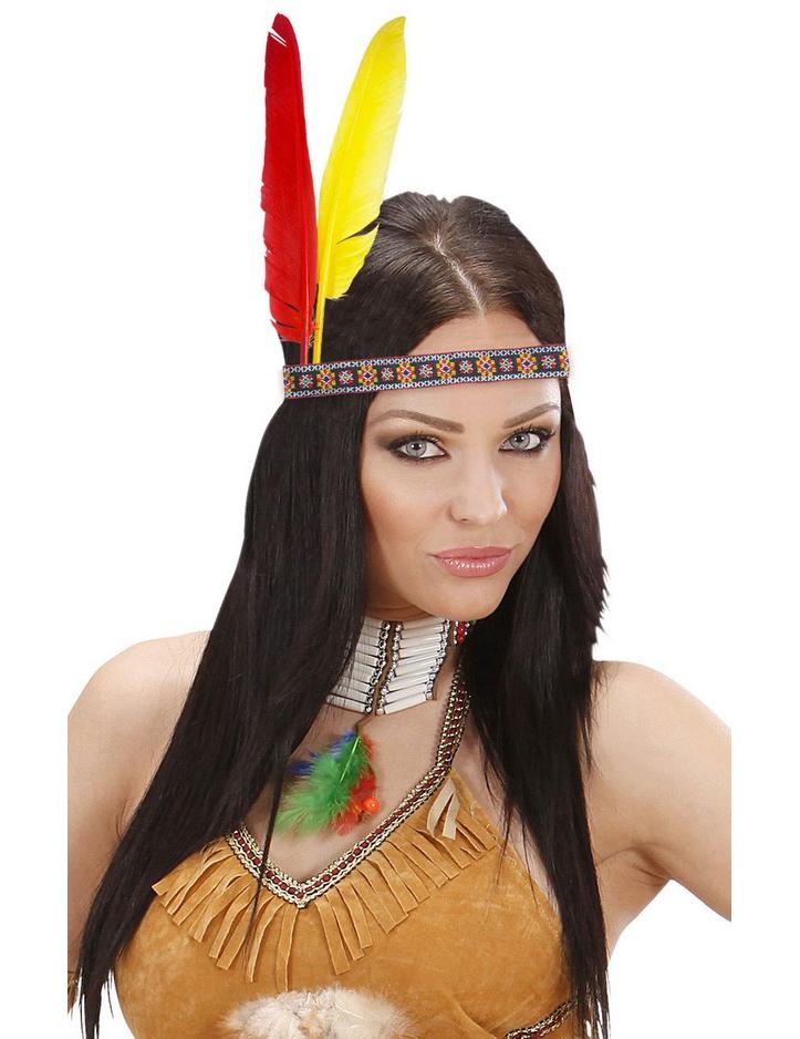 indianer feder stirnband kost maccessoire bunt g nstige faschings accessoires zubeh r bei. Black Bedroom Furniture Sets. Home Design Ideas