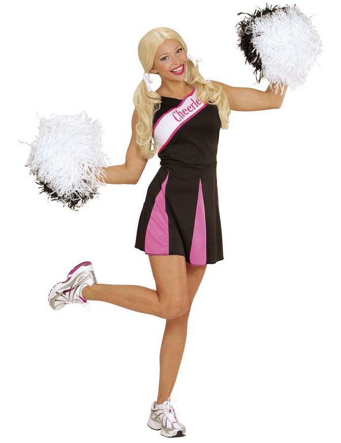 Cheerleader Kostum Fur Damen In Schwarz Und Rosa Gunstige