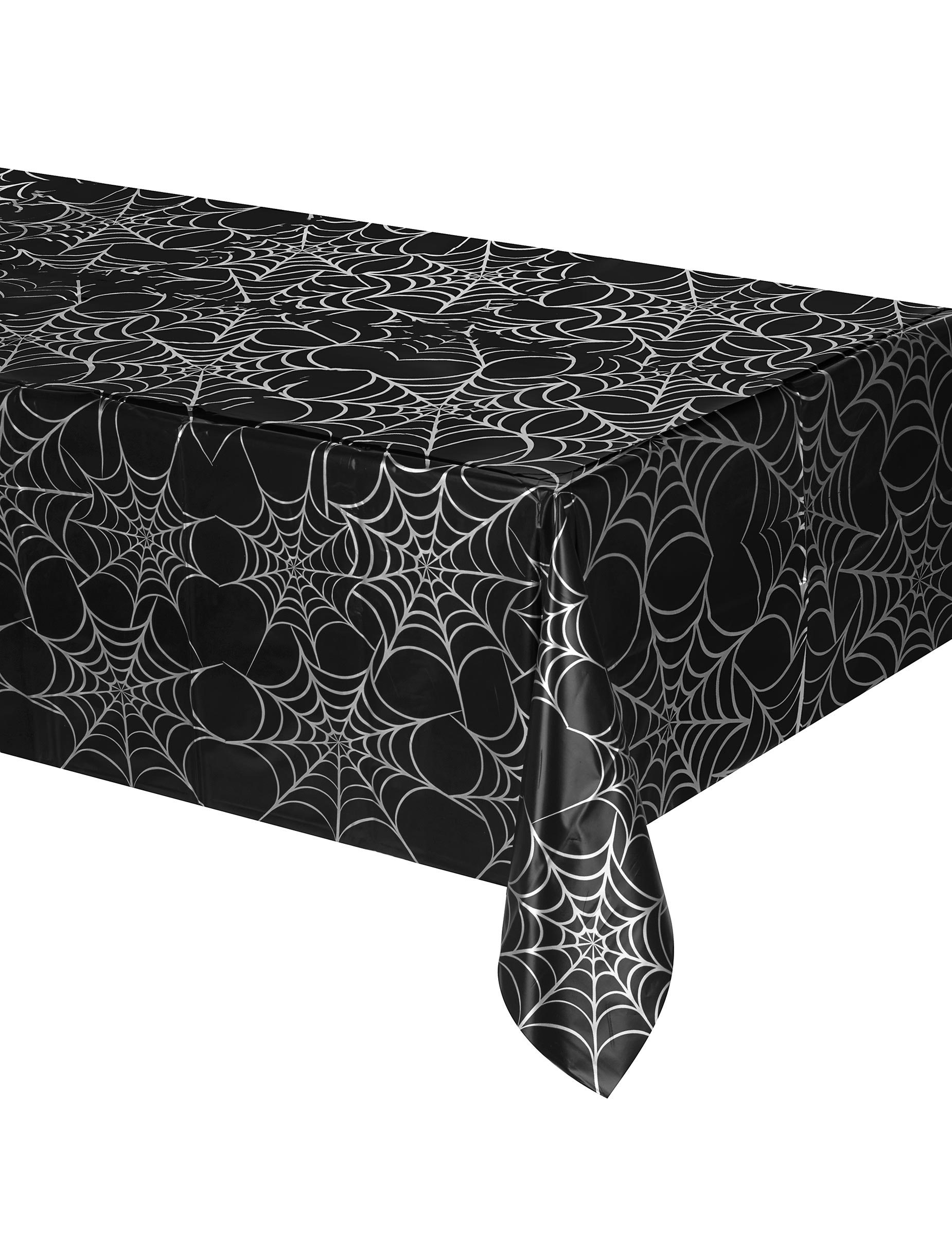 spinnen tischdecke halloween tischdeko spinnennetz schwarz. Black Bedroom Furniture Sets. Home Design Ideas